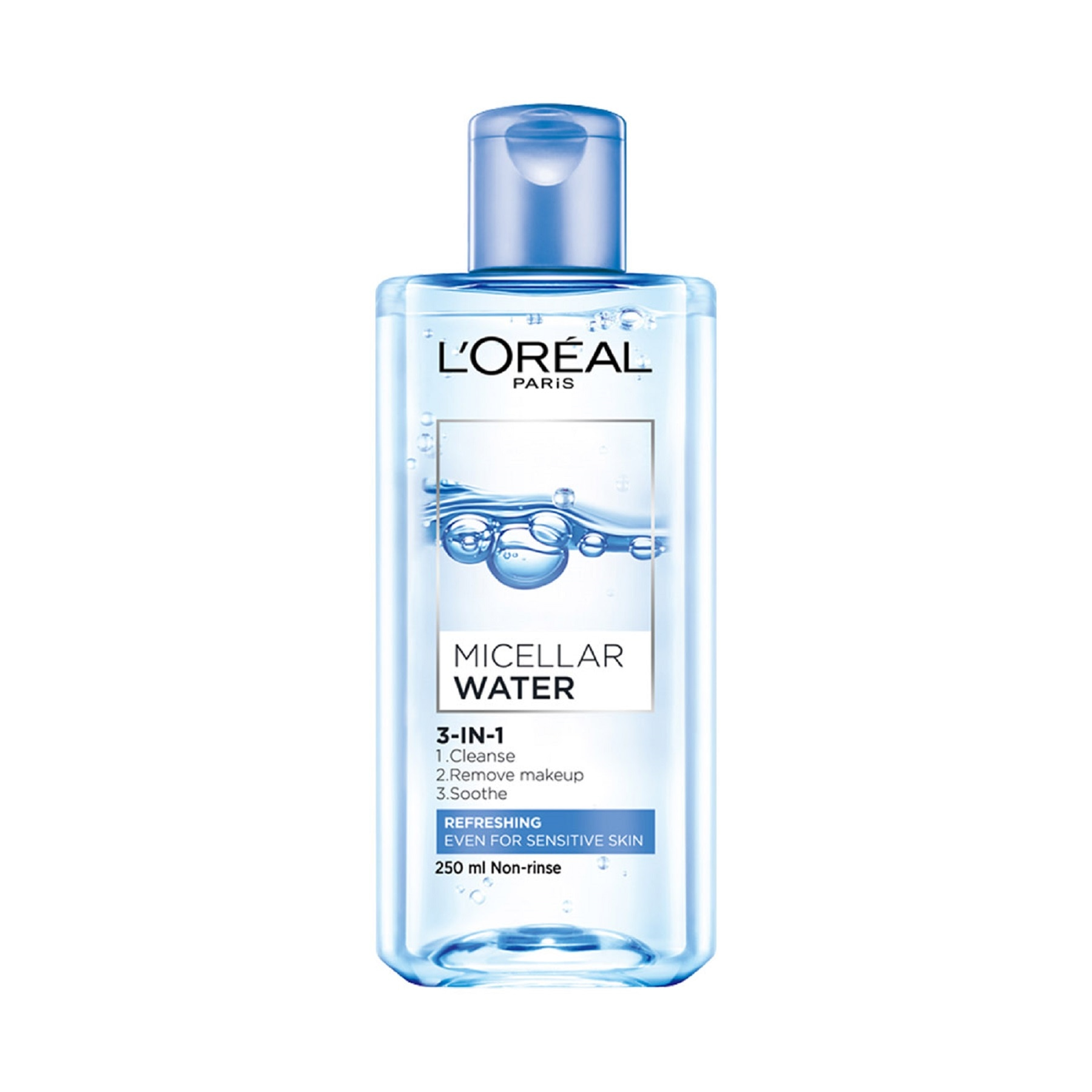 LOREALParis Micellar Water - Refreshing (Blue) 250mL,For WomenFree (1) Watsons Dermaction Plus Antiacne St20x2 for every purchase of Skin Care products