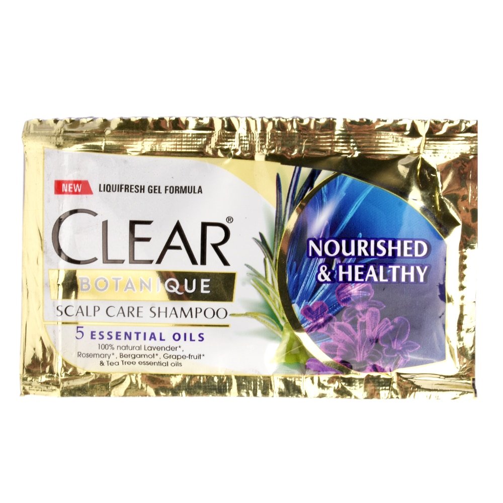 CLEARBotanique Nourished & Healthy Shampoo 10mlx6pcs,Natural Organic