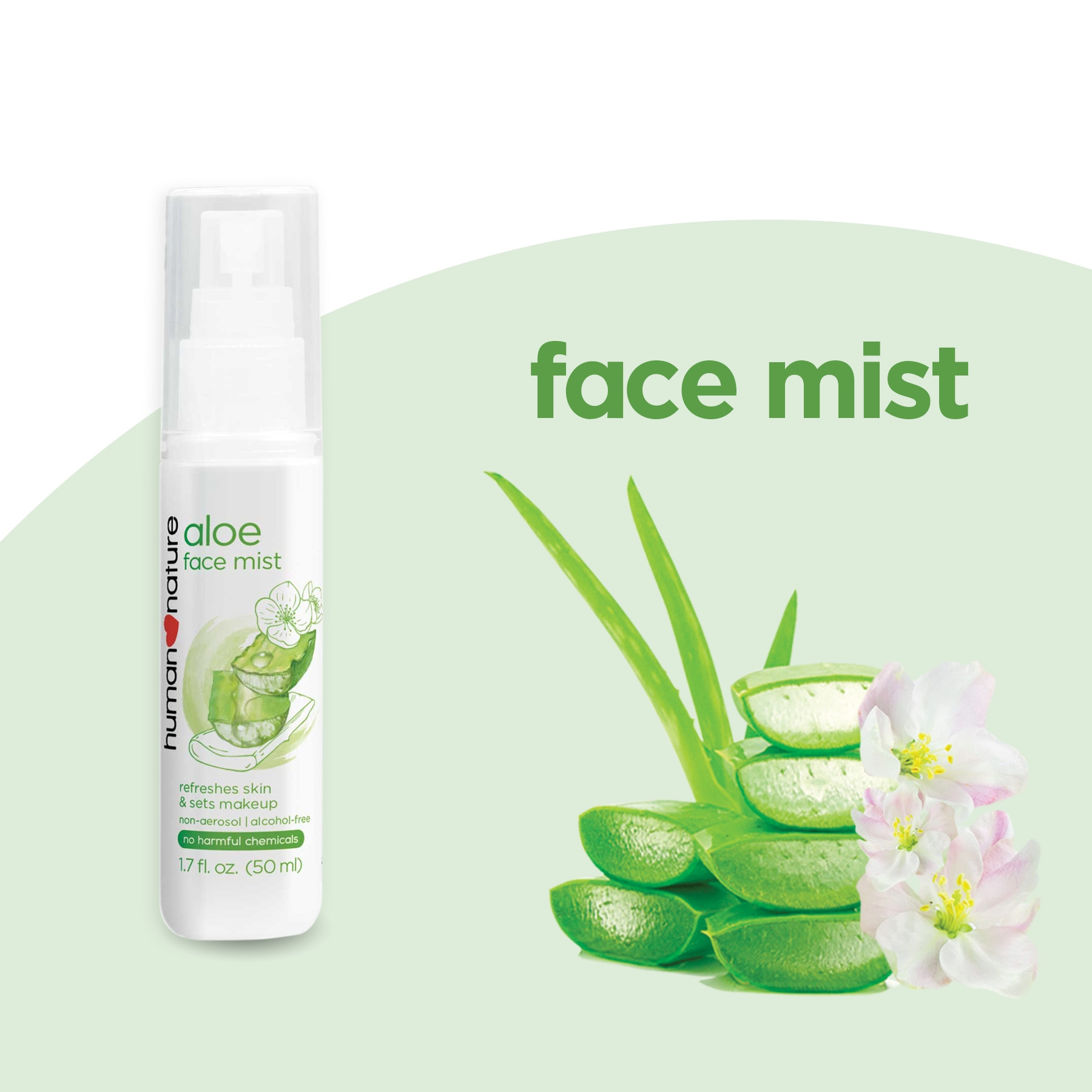 HUMAN NATUREHydrating Face Mist with Aloe Vera 50ml,Facial MistFree (1) Watsons Dermaction Plus Antiacne St20x2 for every purchase of Skin Care products