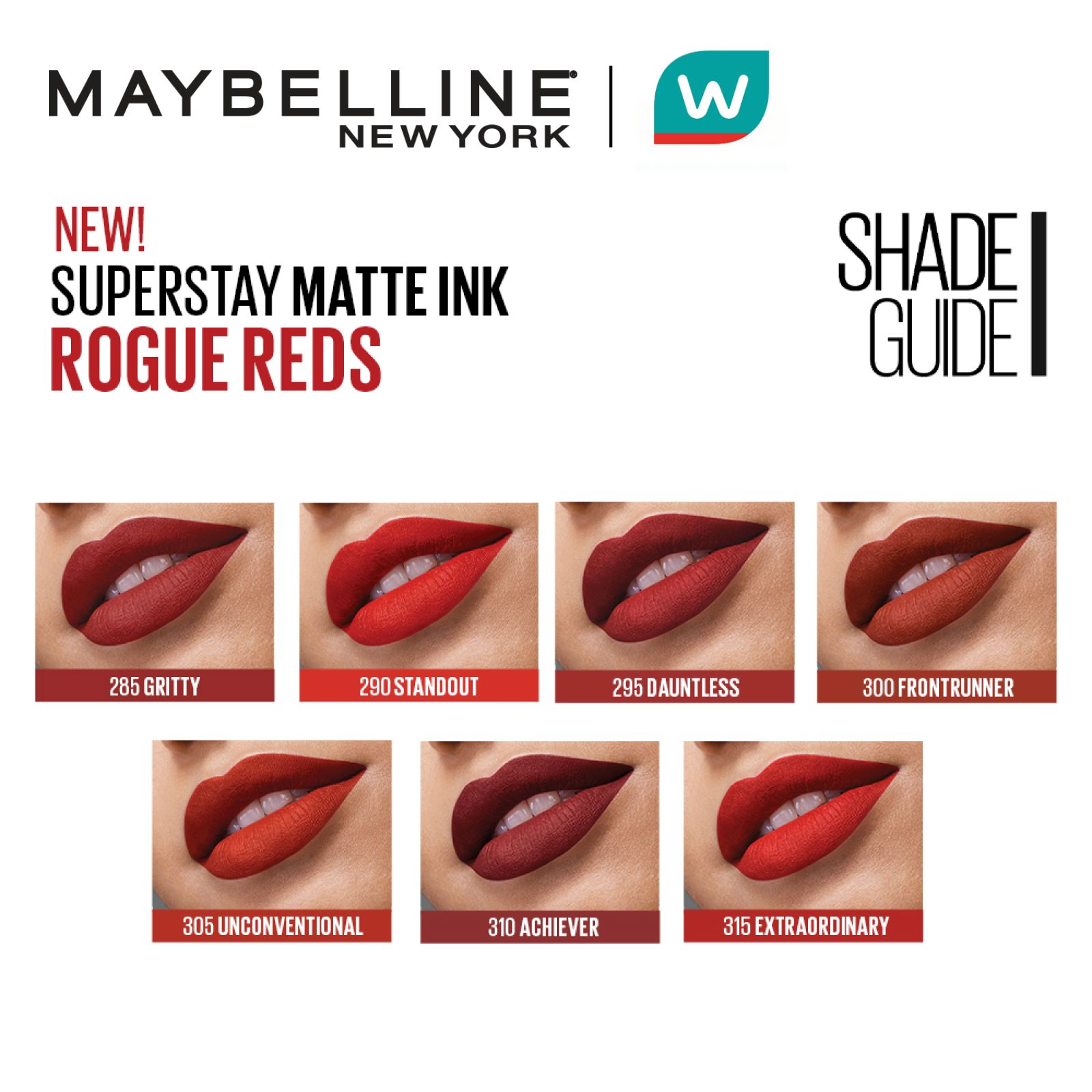 MAYBELLINESuperstay Matte Ink 295 Dauntless [16HR Waterproof] by 5ml,Lipstick , Lip Tint and LiplinersFree Shipping