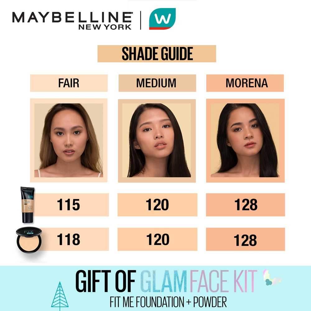 MAYBELLINEMAYBELLINE - [WATSONS HOLIDAY EXCLUSIVE] Fit Me Tube + Compact Powder Gift of Glam Set (Fair),For WomenBABYDOVE5XSR5