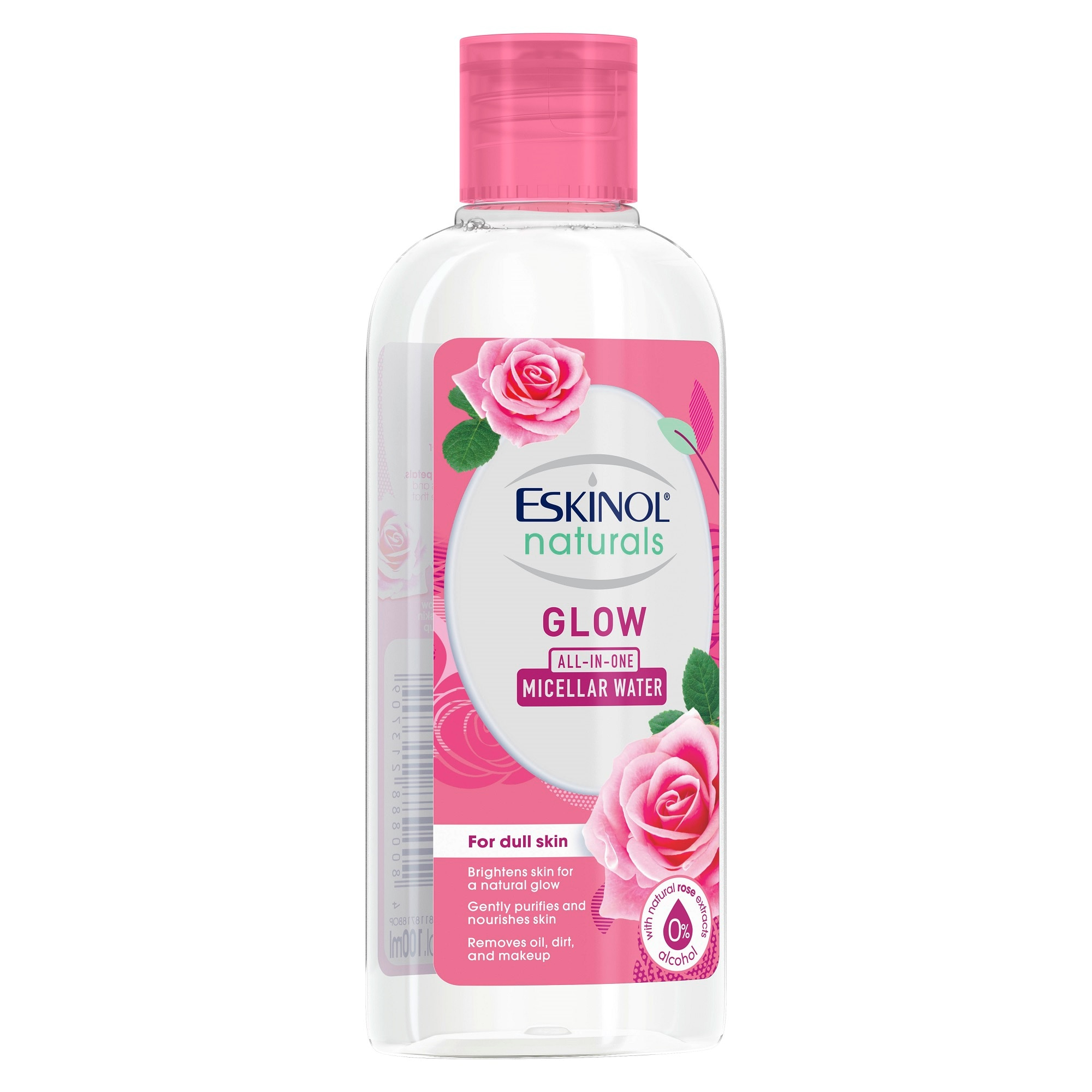 ESKINOLNaturals Micellar Water Glow with Natural Rose Extracts 100ml,For WomenEarth Day Sale