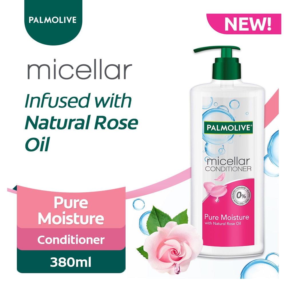 PALMOLIVEConditioner MICELLAR PURE MOISTURE (Pink) 380ml,Everyday ConditionerEarth Day Sale