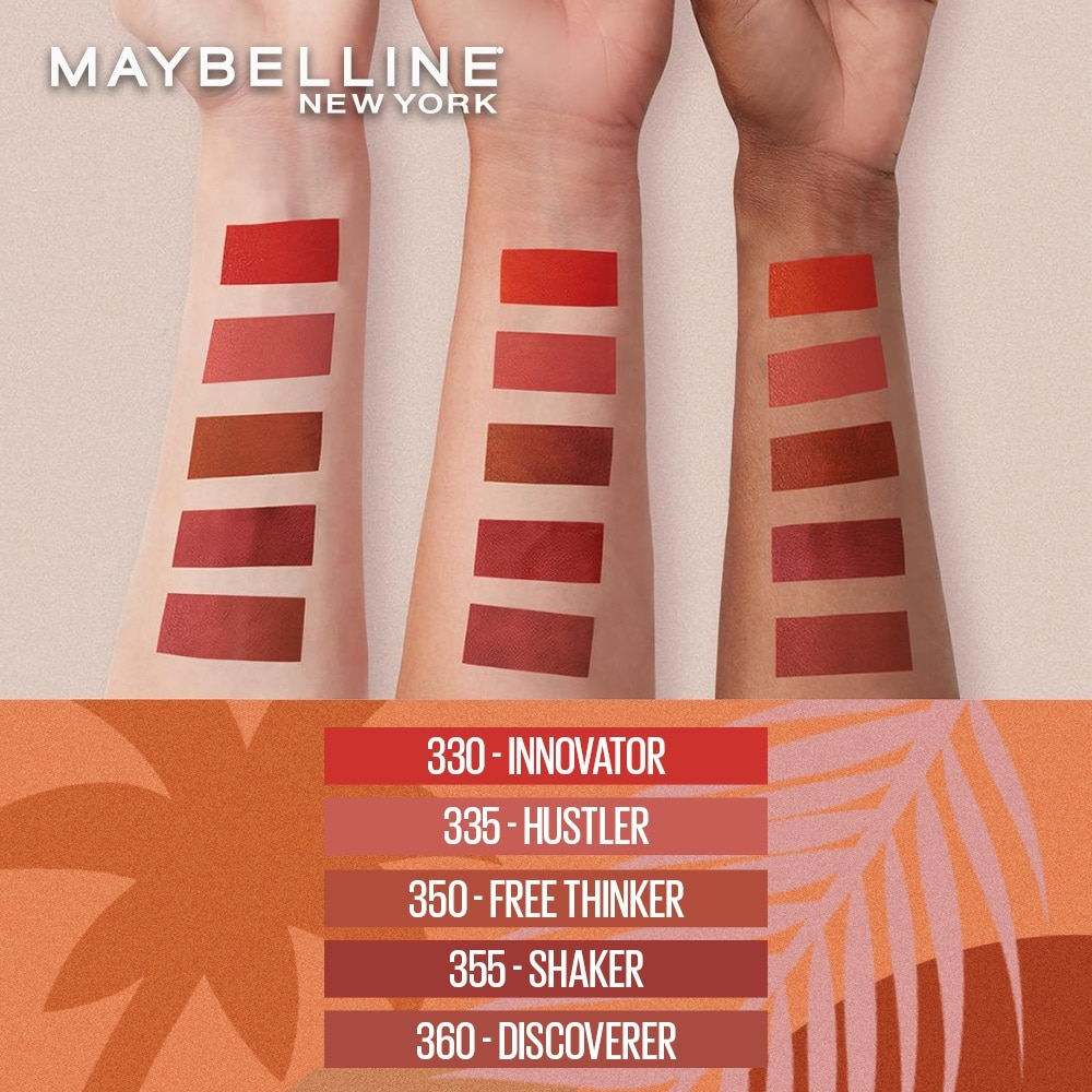 MAYBELLINESuperstay Matte Ink Summer Spice Collection Innovator 5g,Lipstick , Lip Tint and LiplinersWATSONS EMP. DISC.