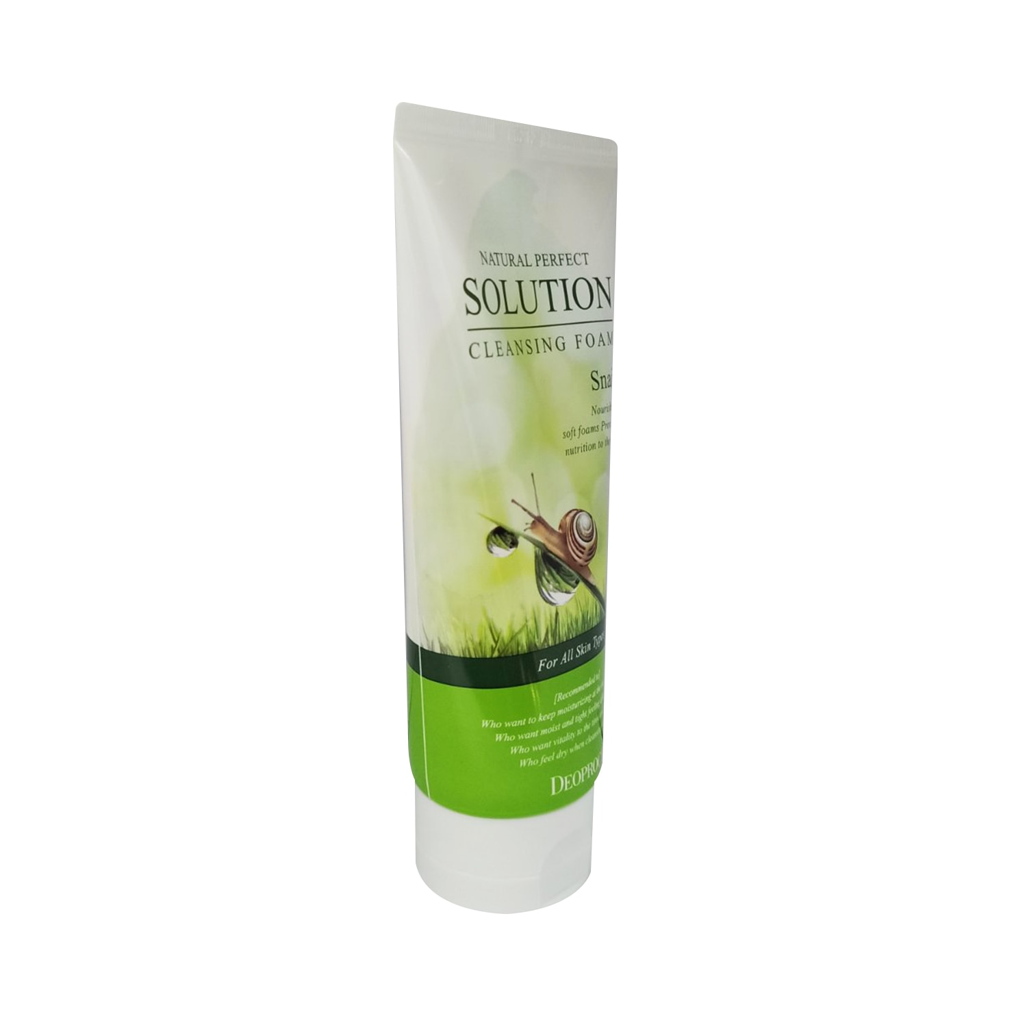 DEOPROCEDEOPROCE Natural Perfect Solution Cleansing Foam Snail 170g,For WomenKBeauty