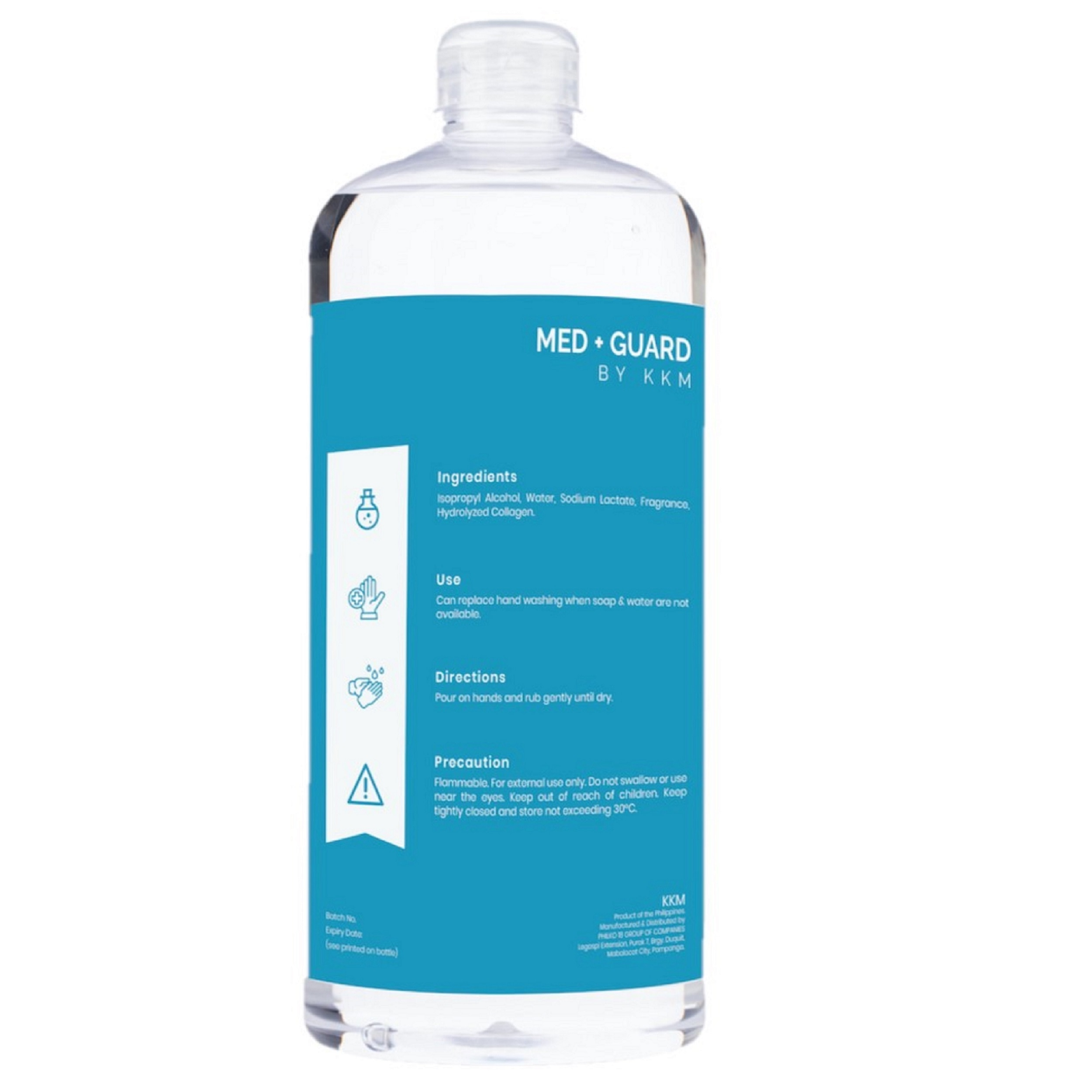 MED GUARDIsopropyl Alcohol with Collagen 1 liter,Alcohol and Disinfectant