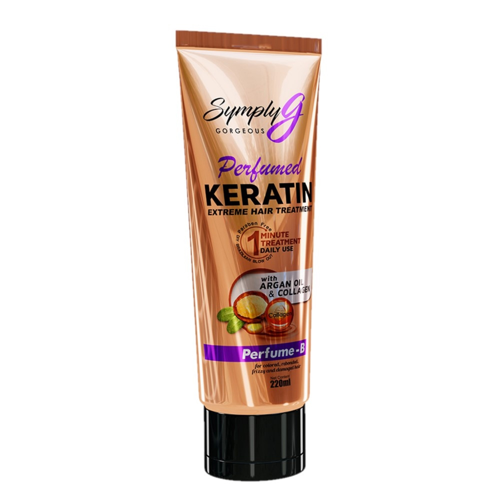 SYMPLY GSymply G Perfume B Keratin Extreme Hair Treatment With Argan Oil & Collagen,Treatment Condtioner-