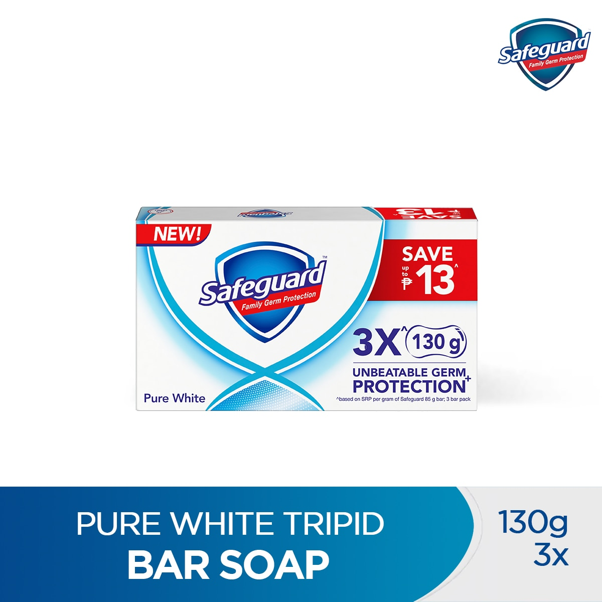 SAFEGUARDPure White Tripid Bar Soap 130g,Bar SoapBest Selling Products
