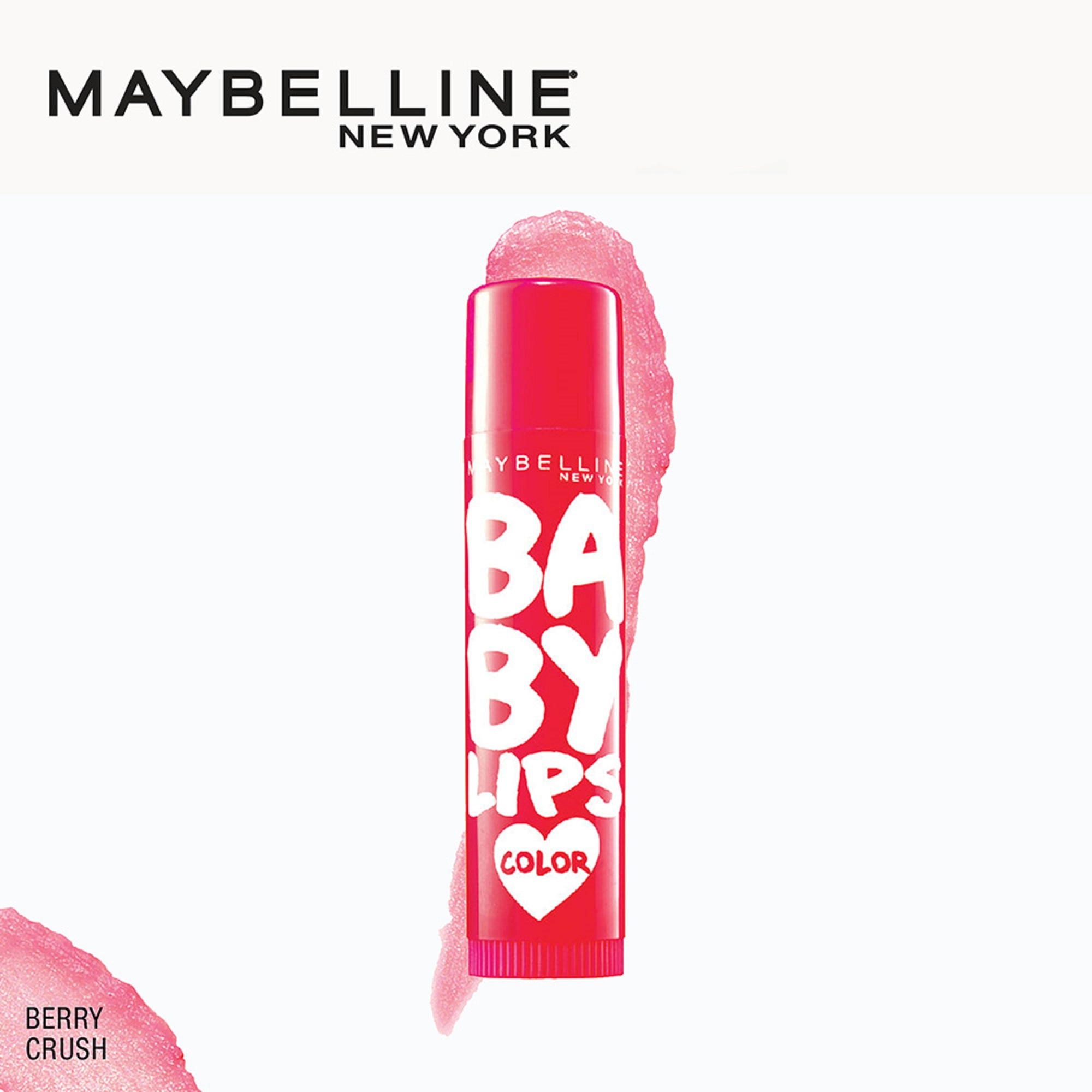 MAYBELLINEBaby Lips Loves Color Lip Balm - Berry Crush 4g,LipbalmFree (1) Watsons Dermaction Plus Antiacne St20x2 for every purchase of Skin Care products