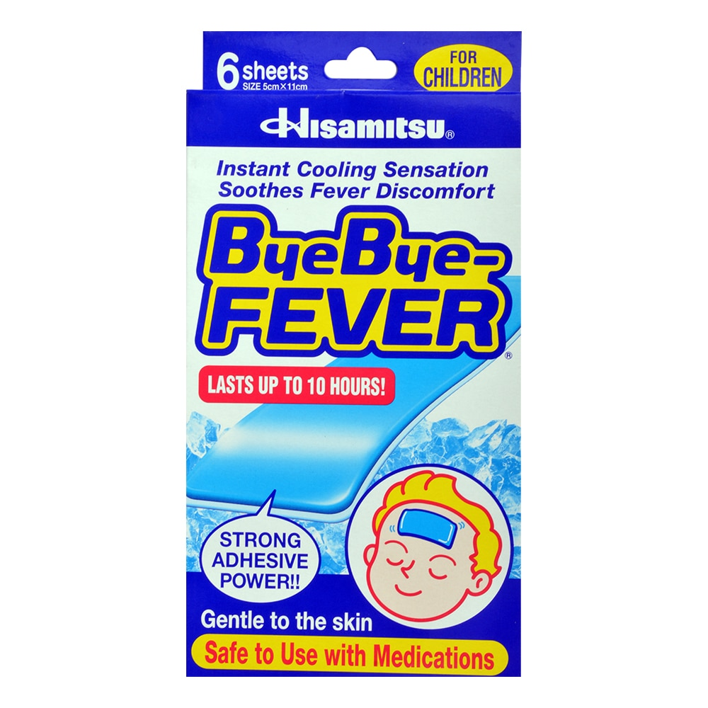 BYE BYE FEVERCooling Gel Sheets for Children,First Aid Accessories