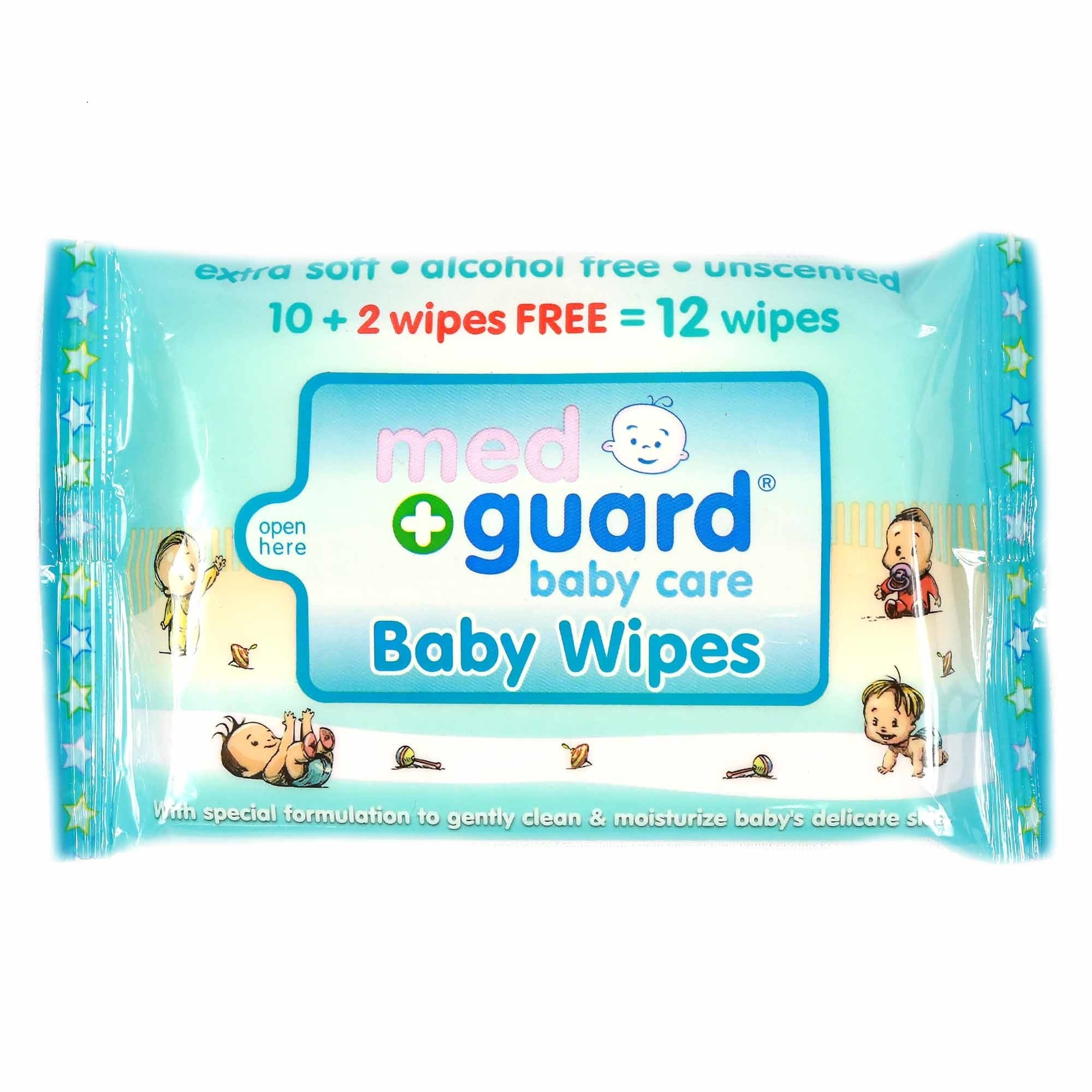 MED GUARDBaby Wipes 10 plus 2 Sheets,Baby Wipes