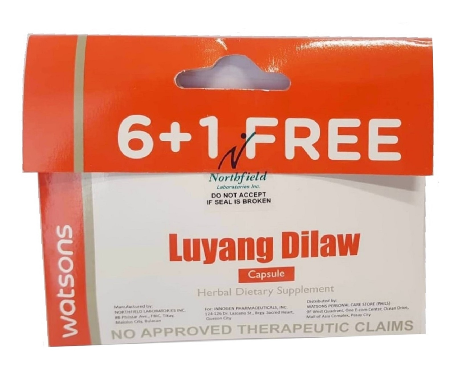 WATSONSLuyang Dilaw 6+1 Capsules,Multivitamins and Overall Wellness