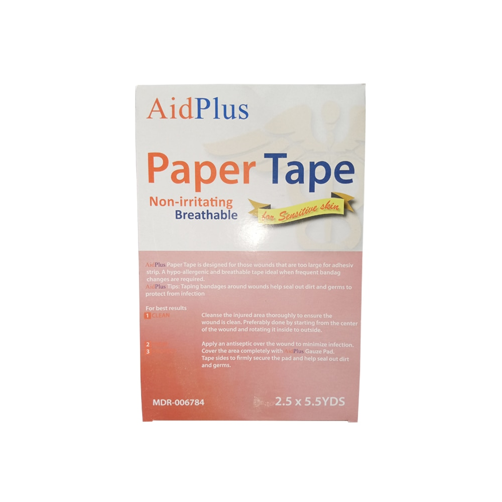 AIDPLUSPaper Tape 2.5cm x 5 yards,First Aid AccessoriesExtra 7% MEMBER EXCLUSIVE