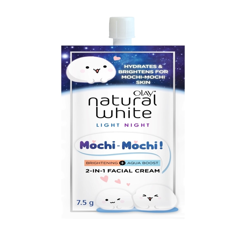 OLAYNatural White Light Night Mochi Facial Cream 7.5 g,For WomenFree (1) Watsons Dermaction Plus Antiacne St20x2 for every purchase of Skin Care products