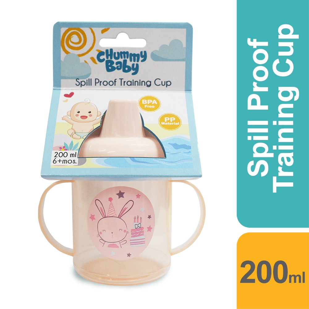 CHUMMY BABYPink bunny Spill Proof Training Cup 200ml,AccessoriesHELLOWT
