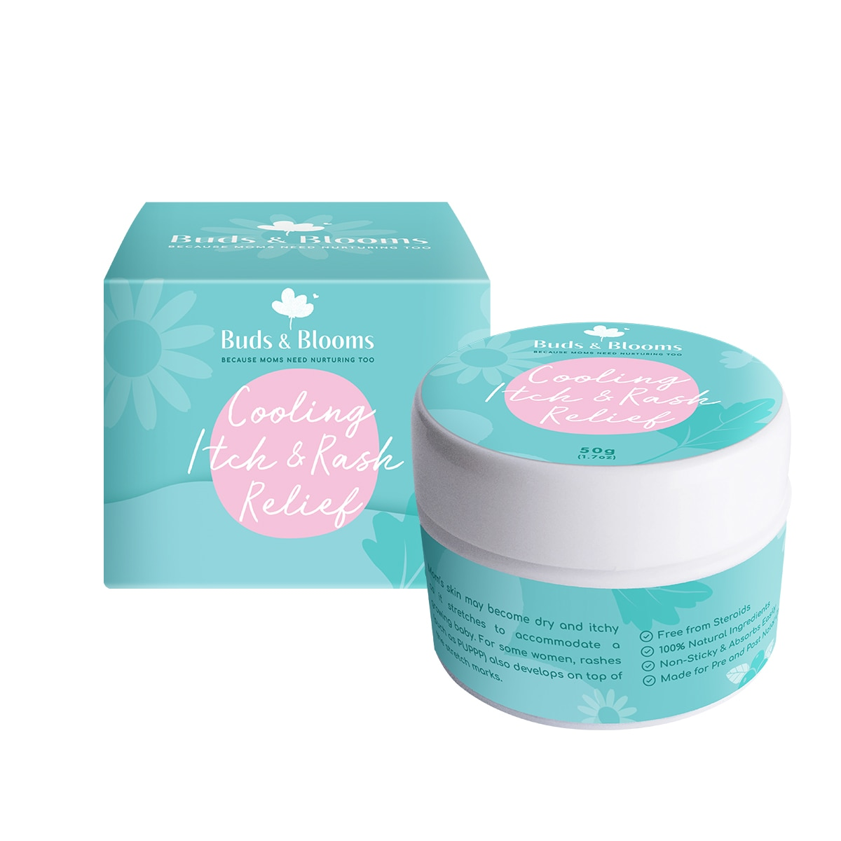 BUDS AND BLOOMCooling Itch & Relief 50g,Baby LotionHELLOWT