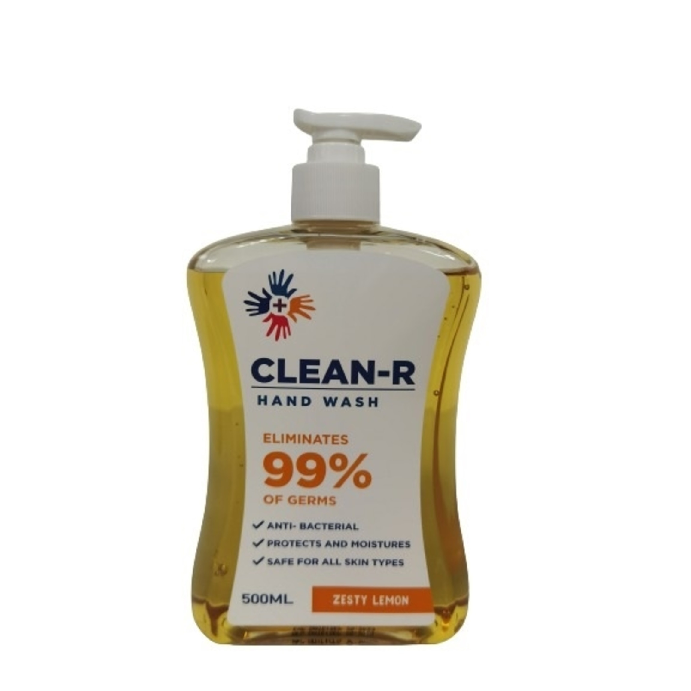 CLEAN RAntibacterial Hand Wash Zesty Lemon 500ml,Hand Soap/SanitizersWhat A Splash: All Products