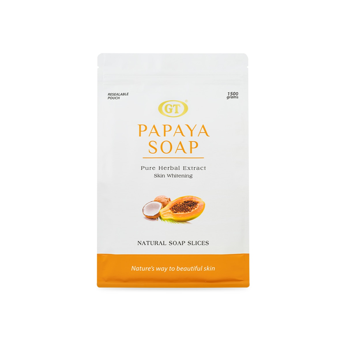 GT COSMETICSPapaya Soap Pouch 1500g,Bar SoapFREE (1) Derma C Face Mask for every purchase of P800 worth of skin care items