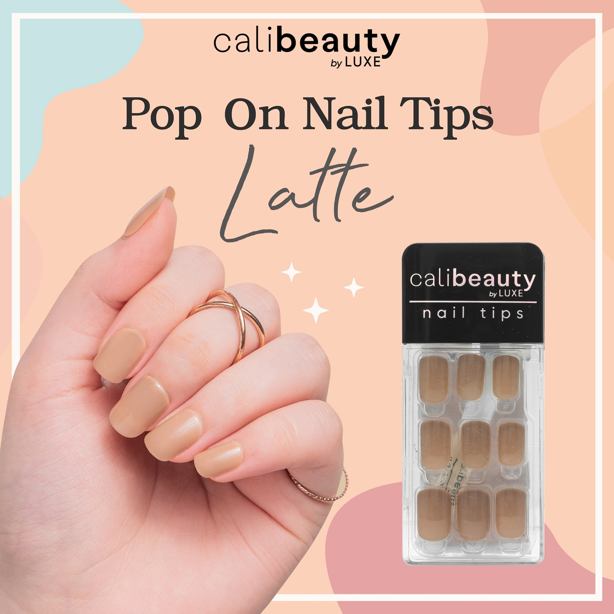 CALI BEAUTYNail Tips Latte 24 Tips,Nail Polish and AccessoriesKBeauty