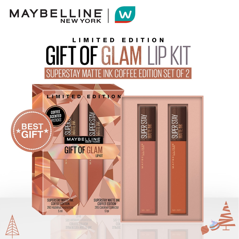 MAYBELLINEMAYBELLINE - [WATSONS HOLIDAY EXCLUSIVE] Superstay Matte Ink Coffee Edition Gift of Glam Set (260 and 265),For WomenWATSONS EMP. DISC.