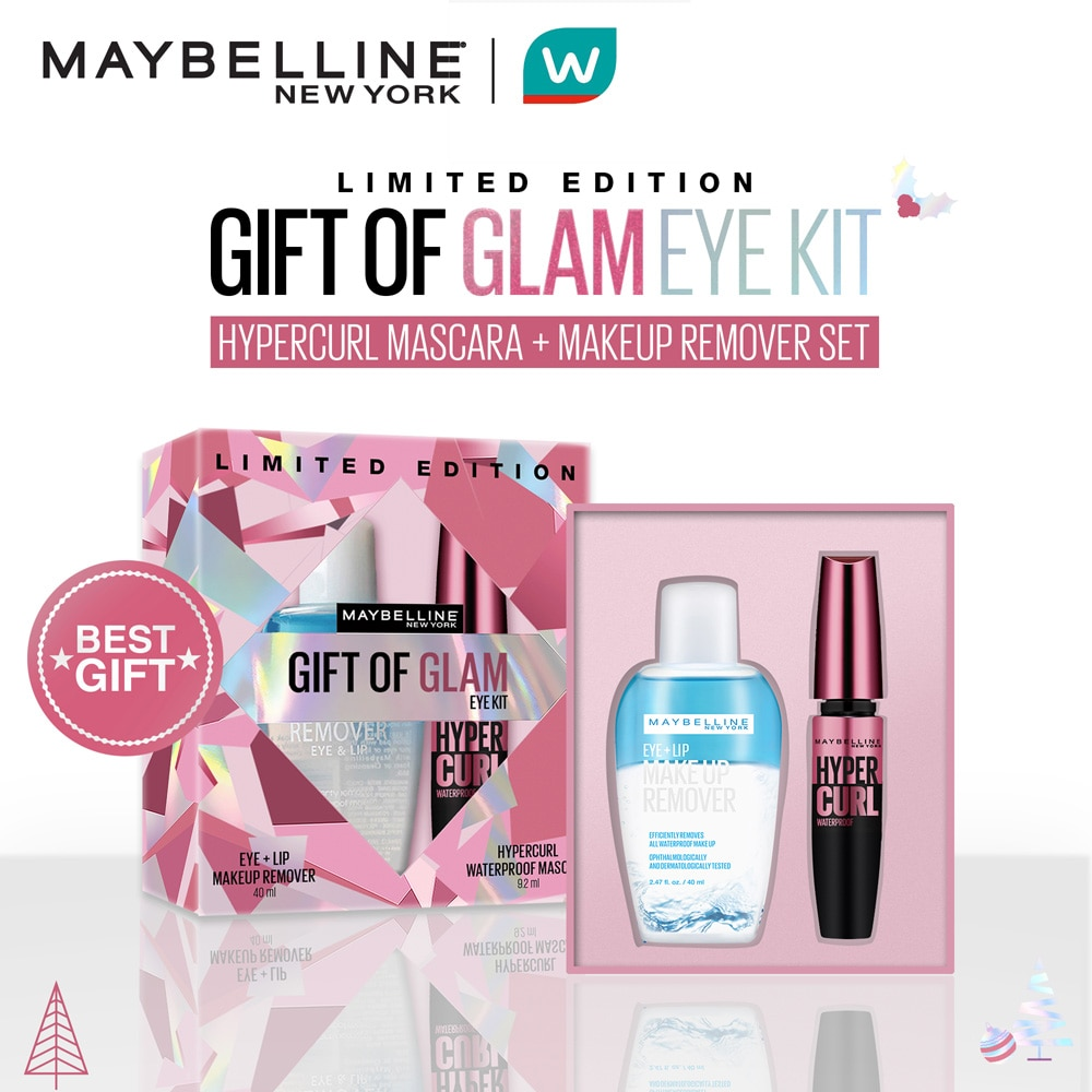 MAYBELLINEMAYBELLINE - [WATSONS HOLIDAY EXCLUSIVE] Hypercurl + Makeup Remover Gift of Glam Set,WATSONS EMP. DISC.For Women