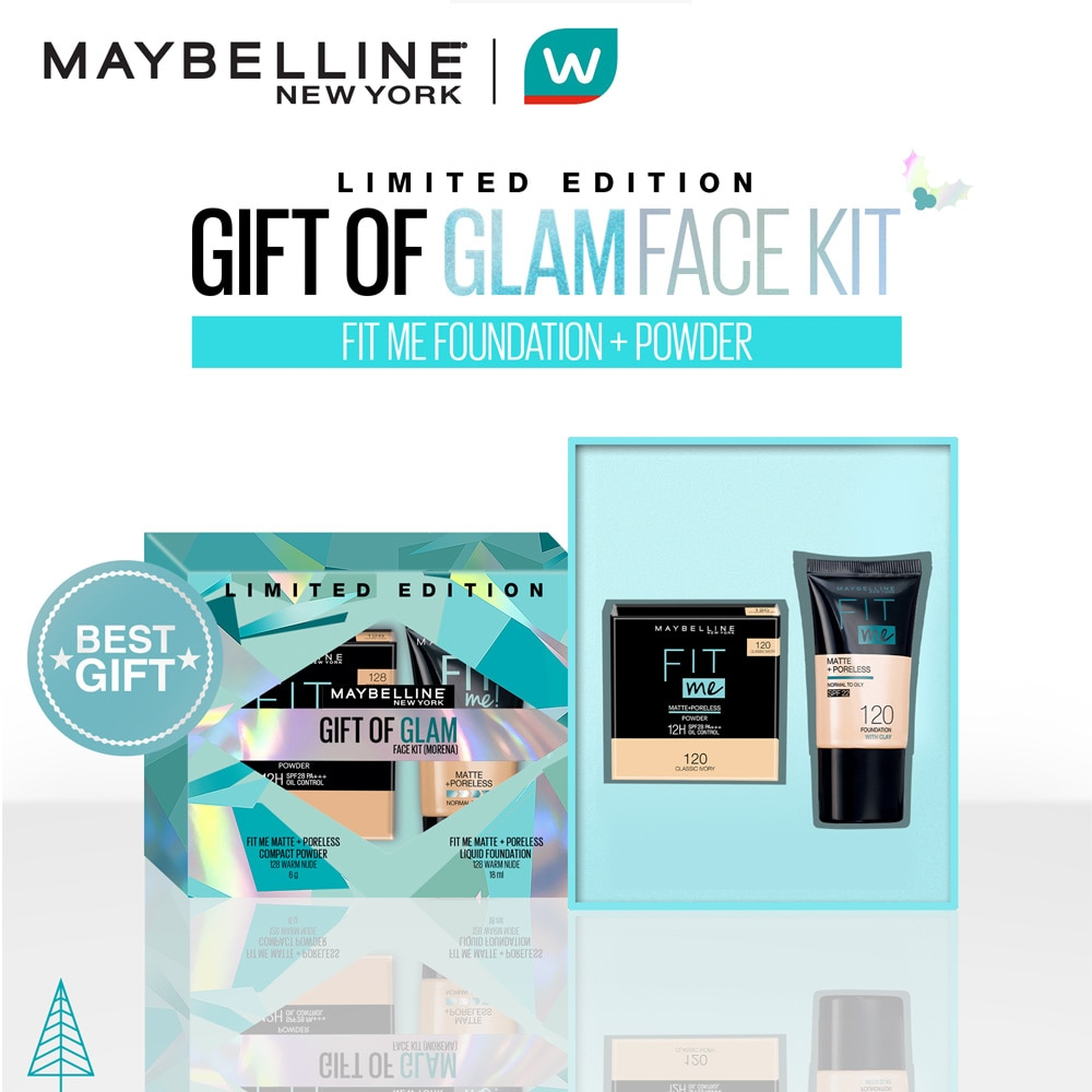 MAYBELLINEMAYBELLINE - [WATSONS HOLIDAY EXCLUSIVE] Fit Me Tube + Compact Powder Gift of Glam Set (Morena),For WomenWATSONS EMP. DISC.