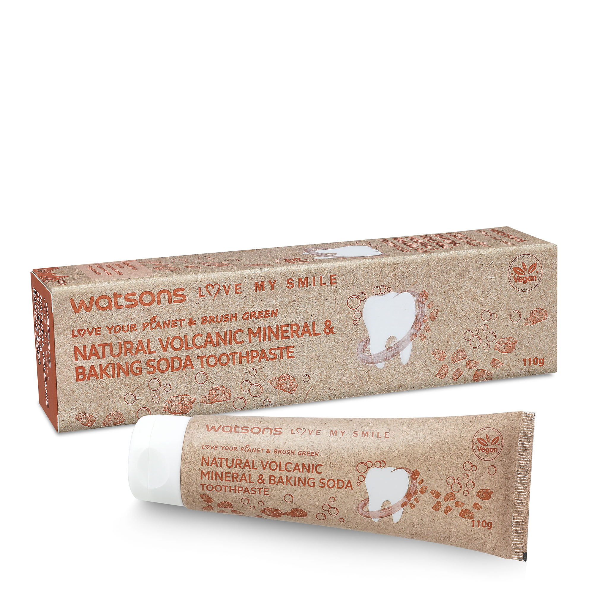 WATSONSLove my Smile Natural Volcanic Bakingsoda Toothpaste 110G,Toothpaste-