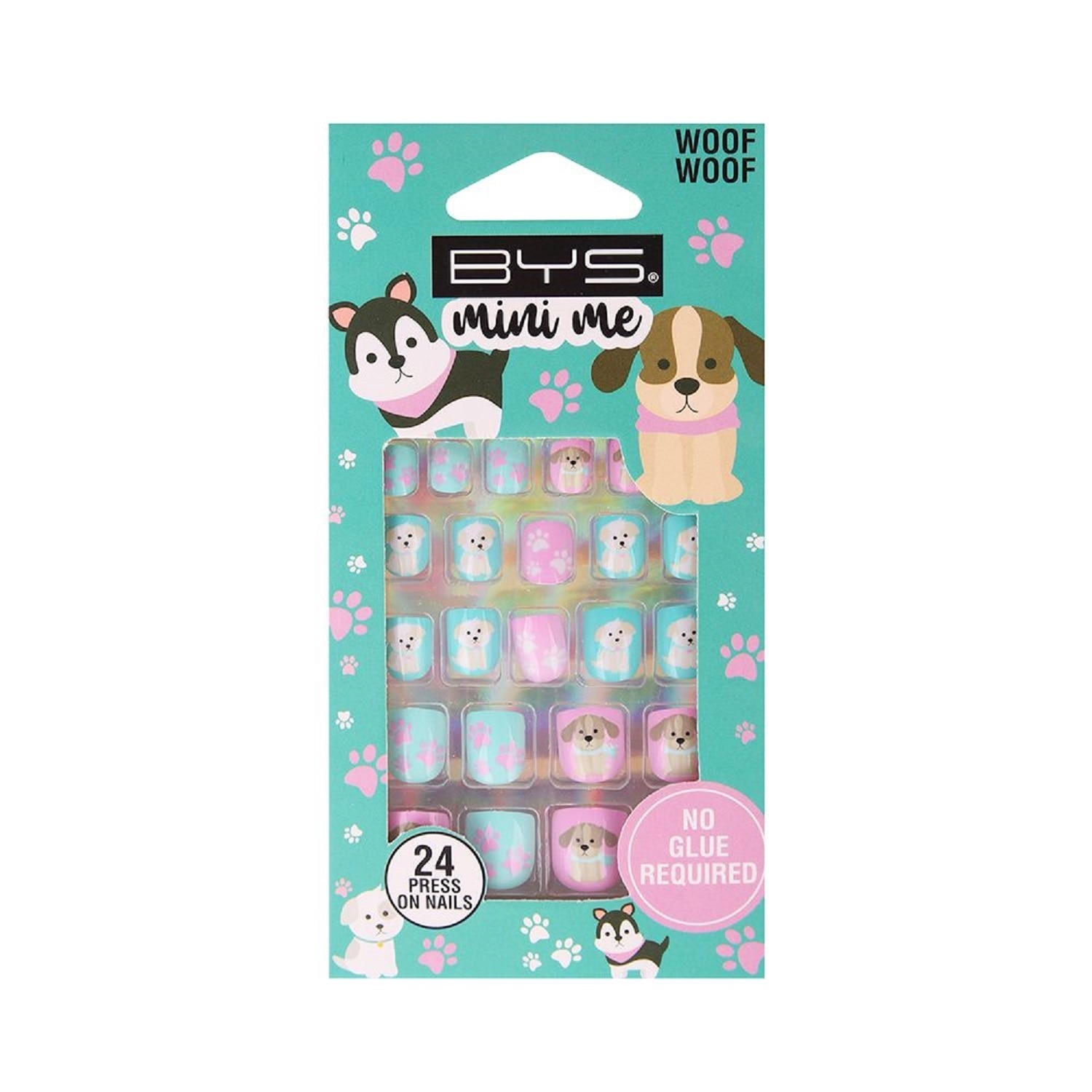 BYSMini Me 24 Pre-Glued Nails Woof Woof,Nail Polish and AccessoriesBABYDOVE1FTY1