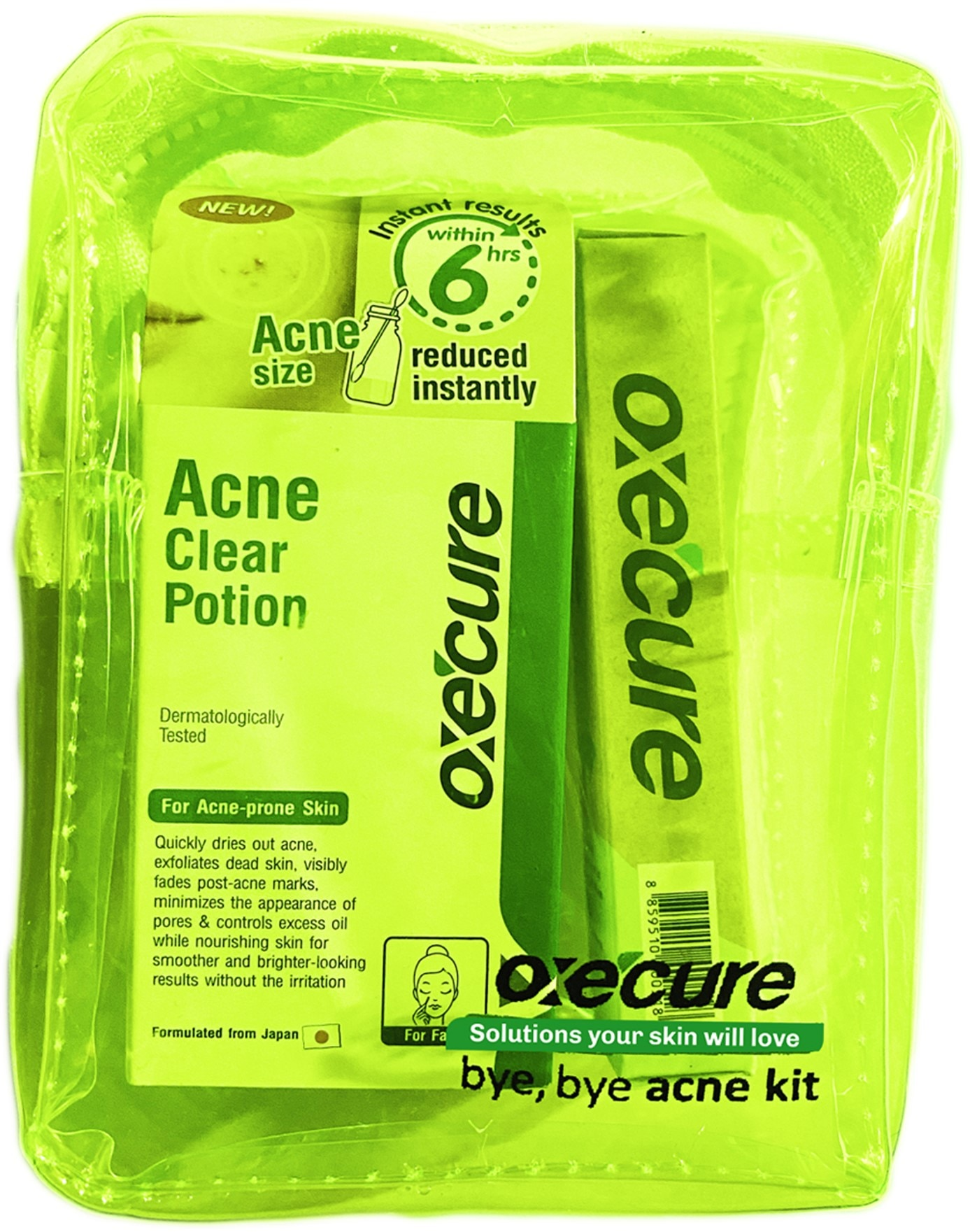 OXECUREBye Bye Acne Kit,Facial TreatmentFree (1) Watsons Dermaction Plus Antiacne St20x2 for every purchase of Skin Care products