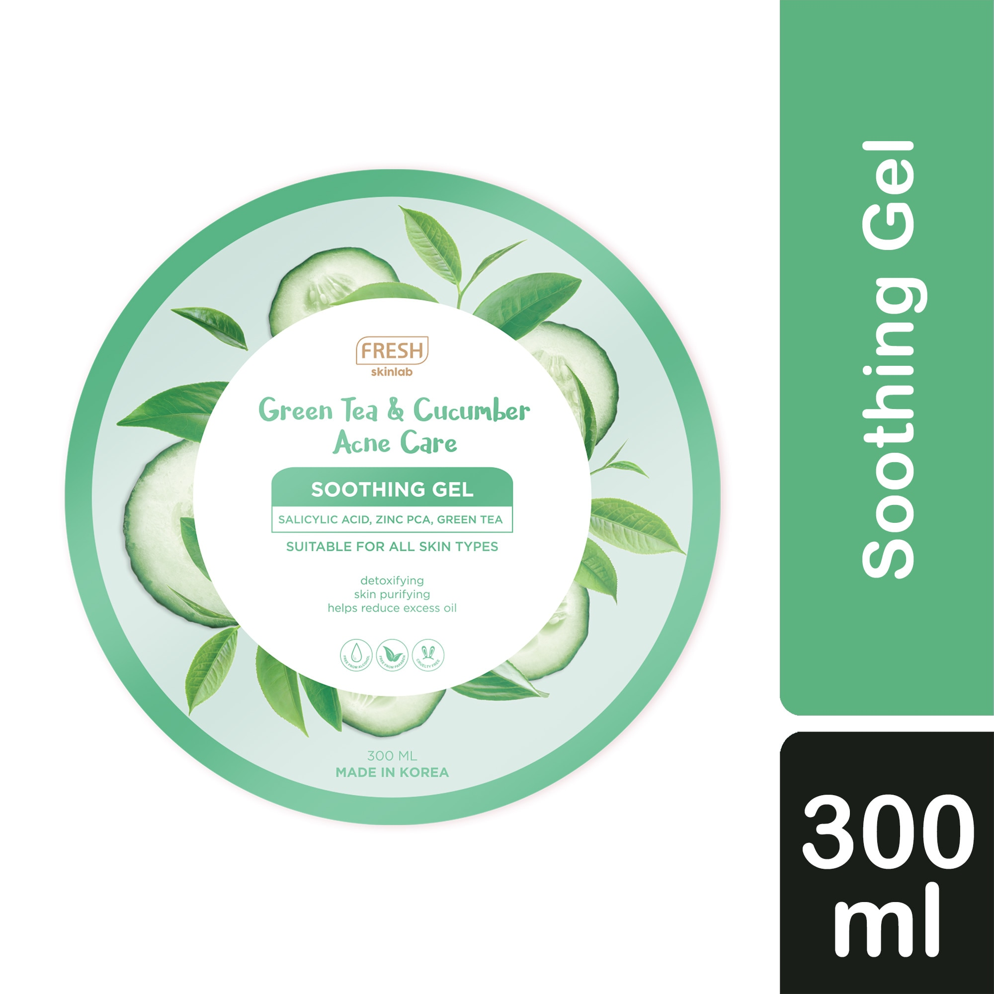 FRESHSkinlab Green Tea and Cucumber Acne Care Soothing Gel 300ml,For WomenSummer Glow