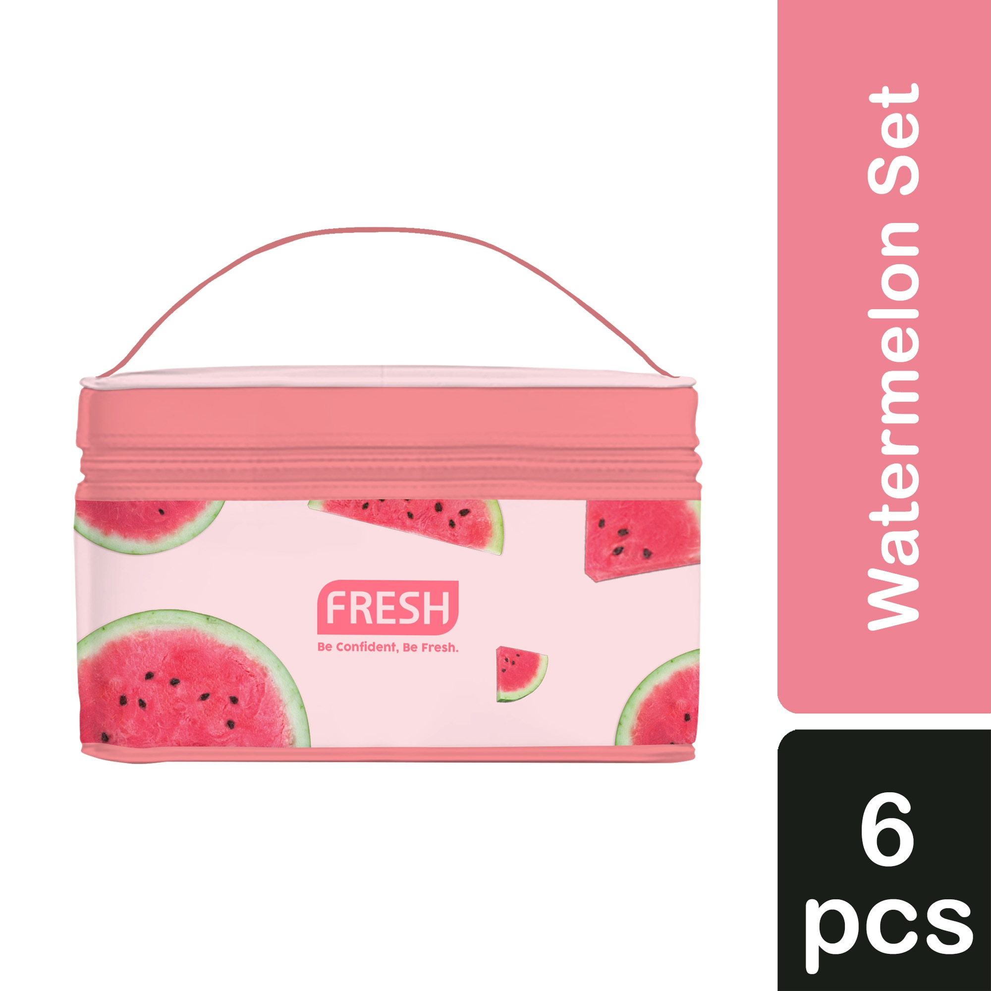 FRESHWatermelon Set (Jelly Serum Soap + Jelly Serum Mist + Soothing Gel Lotion + Jelly Peel + Sleeping Pack + FREE Bag),For WomenHELLOWT
