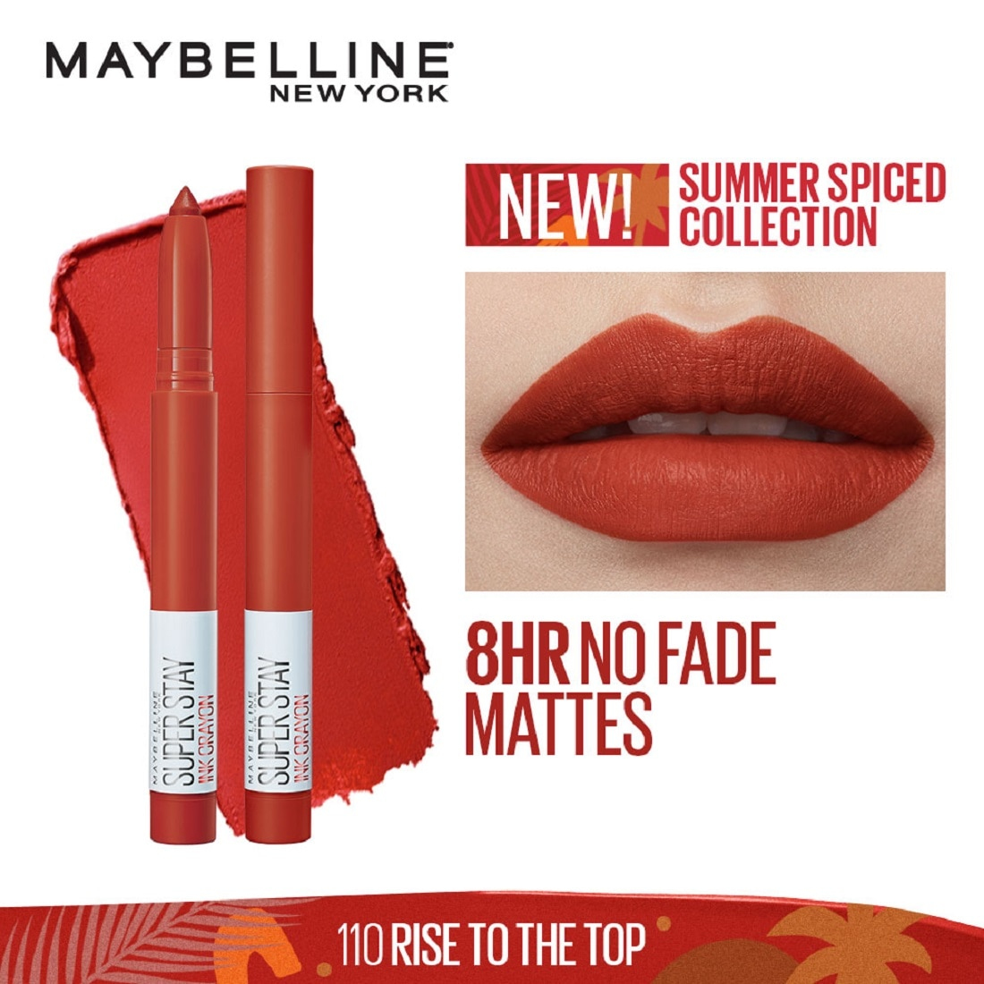 MAYBELLINESuperstay Ink Crayon Summer Spice Collection Rise to the Top 5g,Lipstick , Lip Tint and LiplinersWATSONS EMP. DISC.