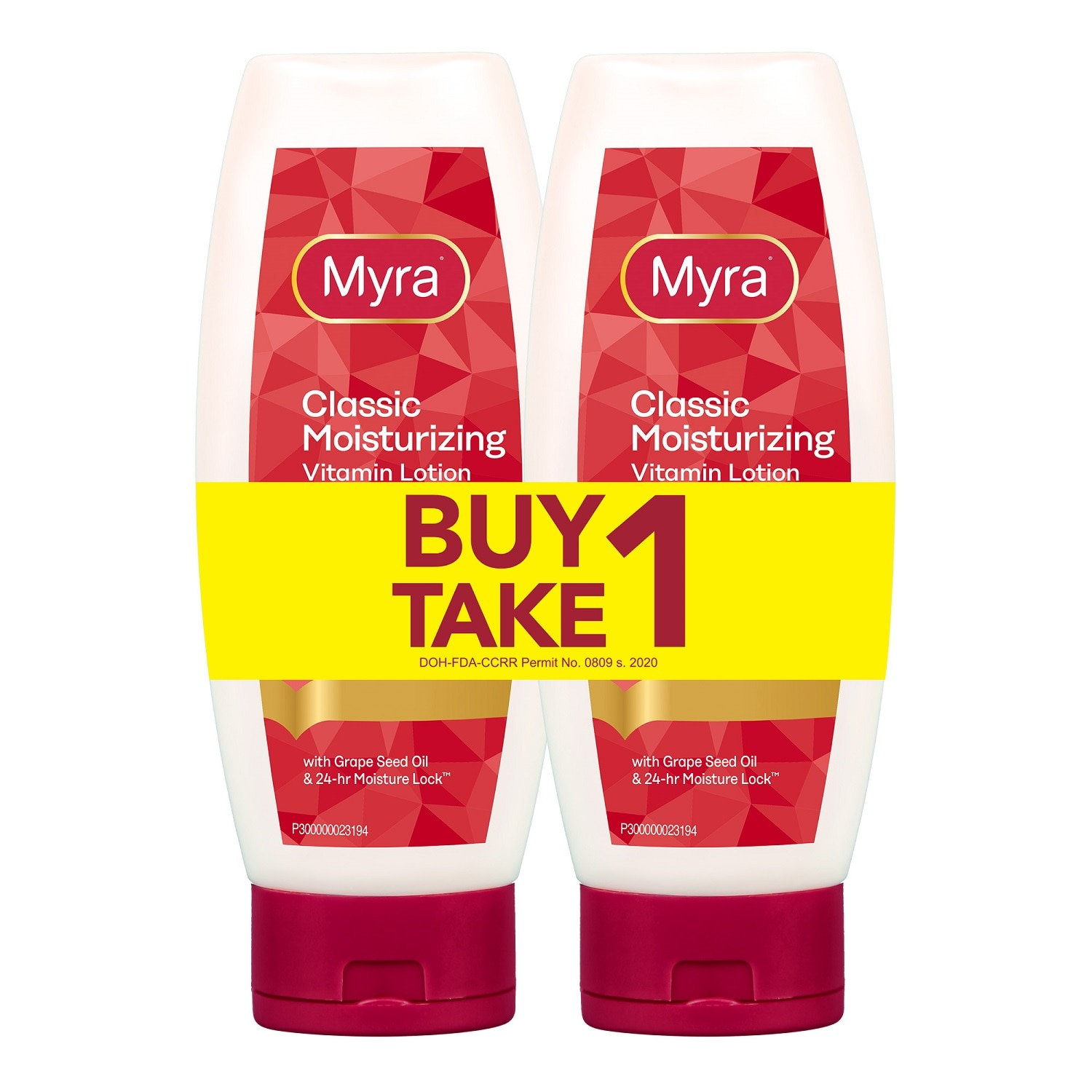 MYRA EClassic Moisturizing Vitamin Lotion 200ml Buy 1 Take 1,For Women2% off – min spend P600 (code: PLUS2), 4% off – min spend P800 (code: PLUS4), 8% off – min spend P1,000 (code: PLUS8) - Members Only. Promo exclusions: Health items, Milk, B1T1 and Buy xx for xx promos