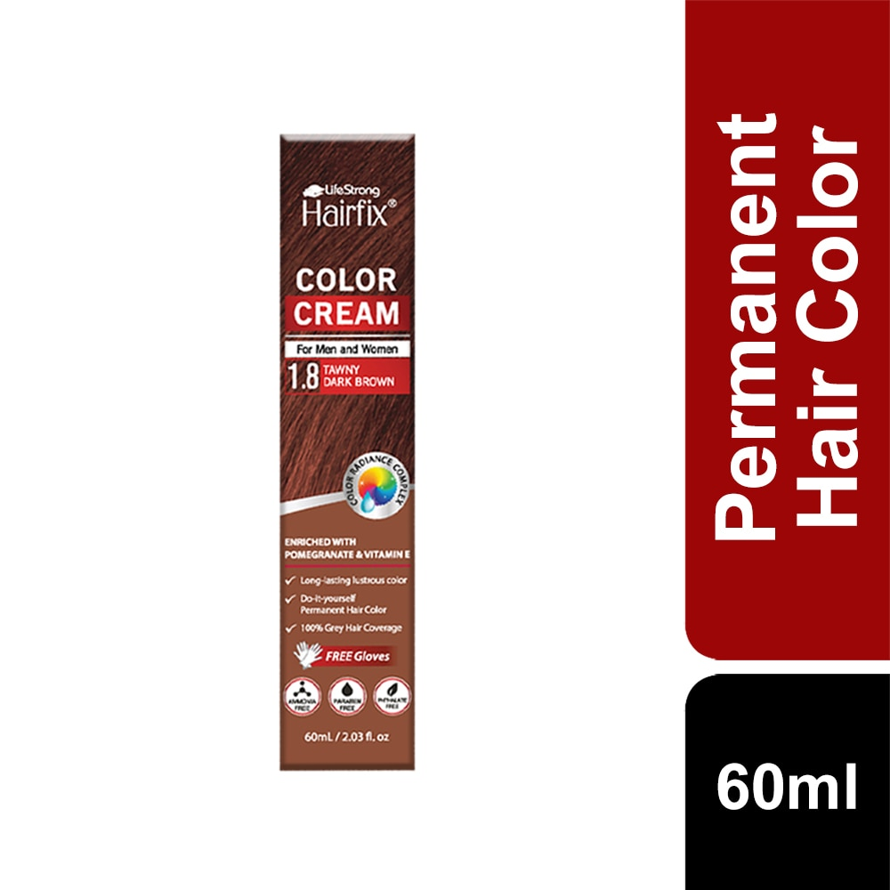 HAIRFIXColor Radiance Hair Coloring cream 60ml Tawny Dark Brown 1.8 60ML,-Permanent
