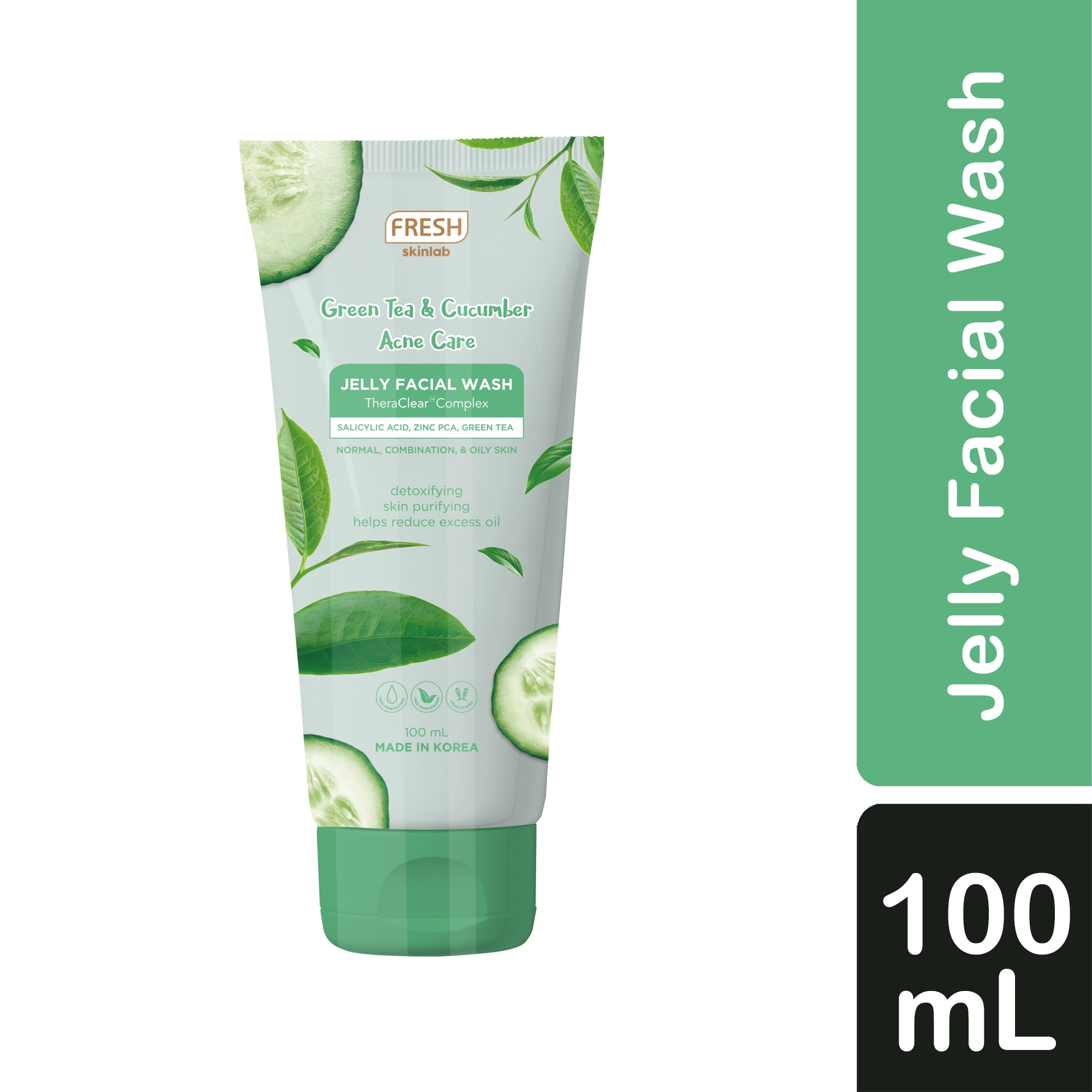 FRESHGreen Tea and Cucumber Acne Care Jelly Facial Wash 100 mL,For WomenExtra P150 off – min spend P1,000 (code:PD150) - Members Only, P100 off – min spend P1,000 (code: PD100). Promo exclusions: Health items, Milk, B1T1 and Buy xx for xx promos