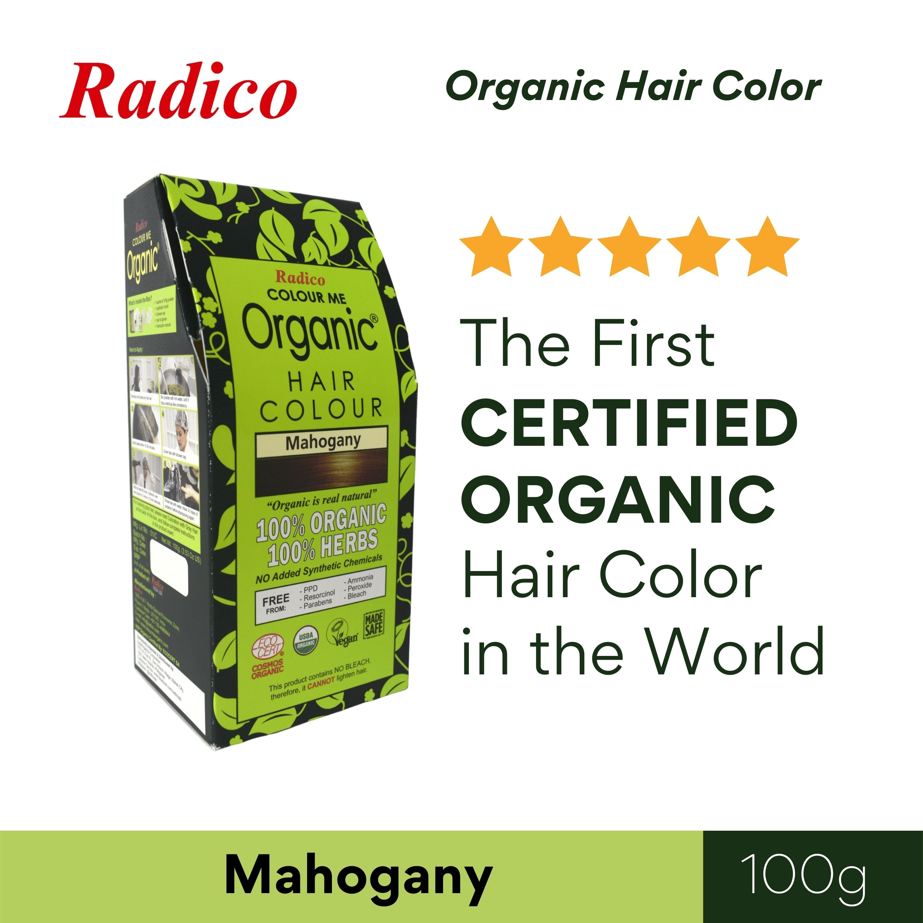 RADICOColour Me Organic Hair Color - Mahogany 100G,Natural Herbal/ OrganicGet 10% disc when you purchased minimum P500 worth of Health and Beauty products using COLLECT10