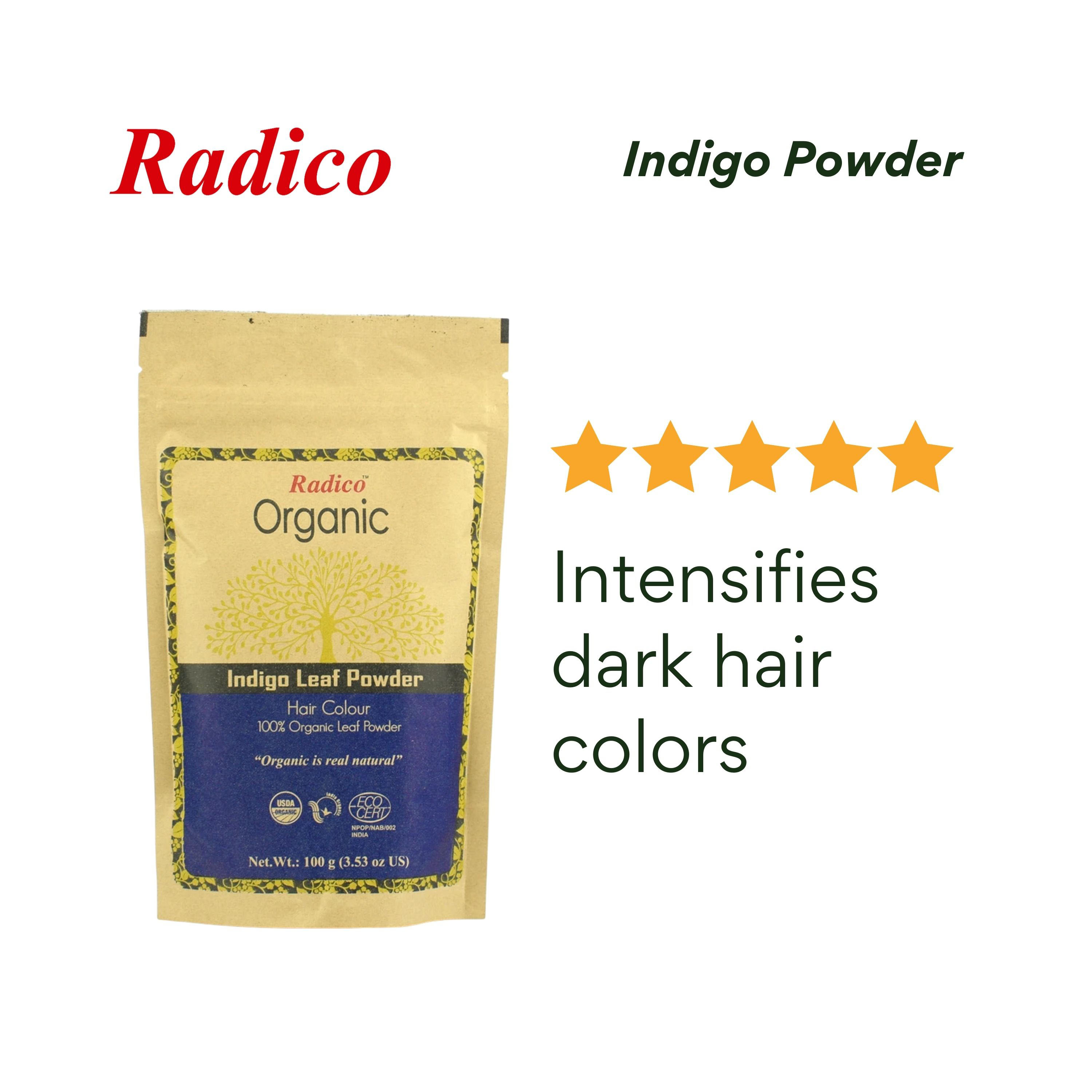 RADICOOrganic Indigo Powder 100G,Color CareGet 10% disc when you purchased minimum P500 worth of Health and Beauty products using COLLECT10