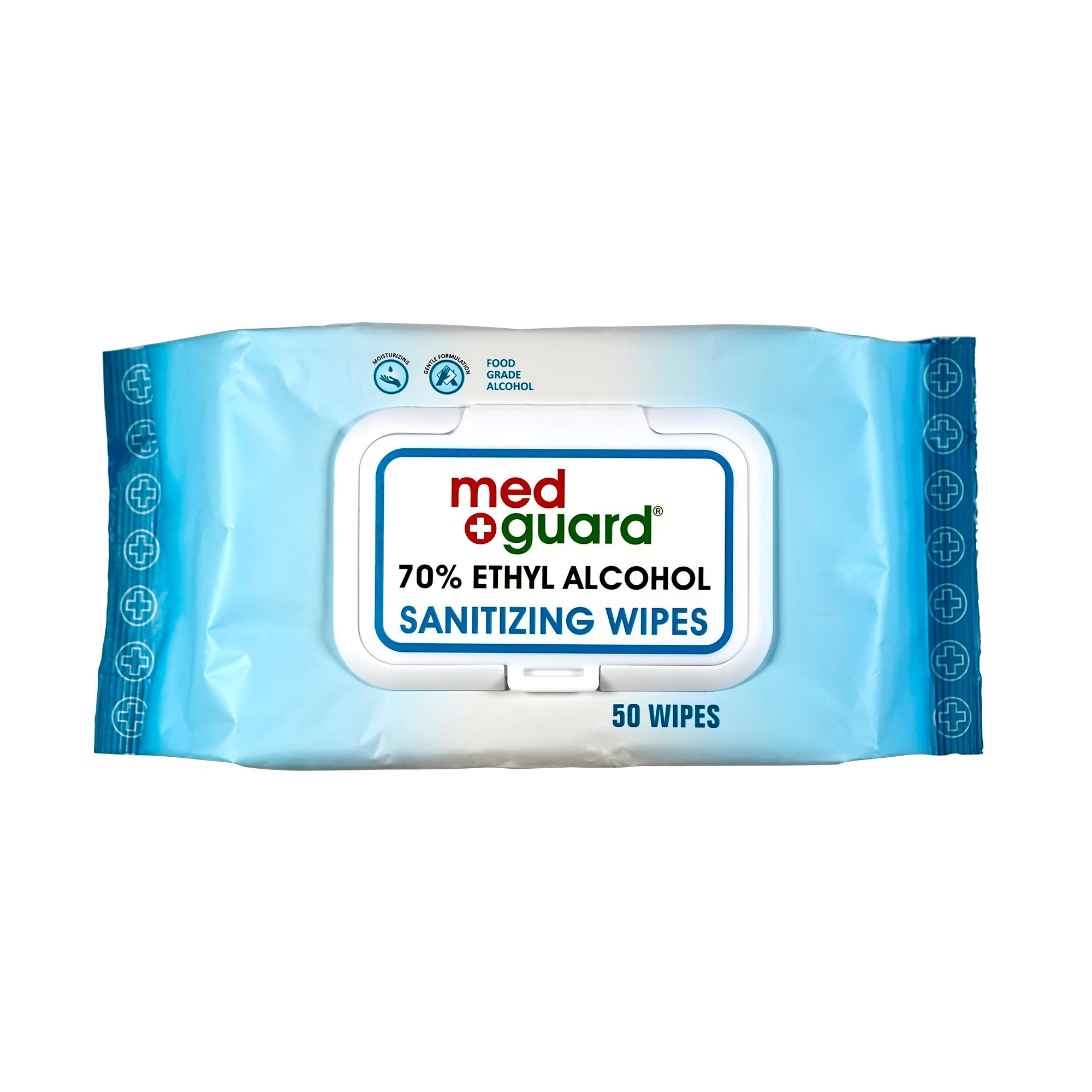 MED GUARD70% Ethyl Alcohol  Sanitizing Wipes 50s,Alcohol and Disinfectant-