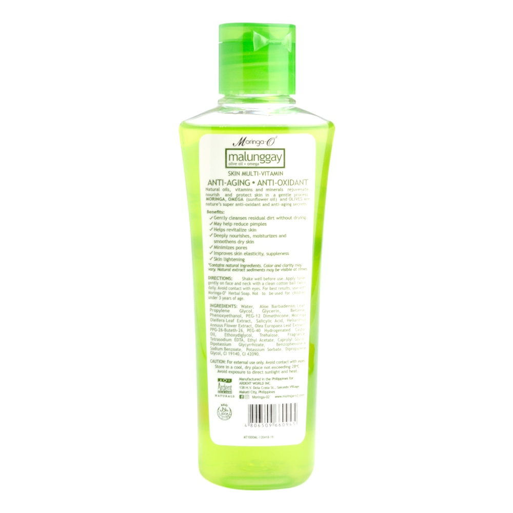MORINGAMoringa-O2 Herbal Toner (Alcohol-Free) 100ml,For WomenFree (1) Watsons Dermaction Plus Antiacne St20x2 for every purchase of Skin Care products