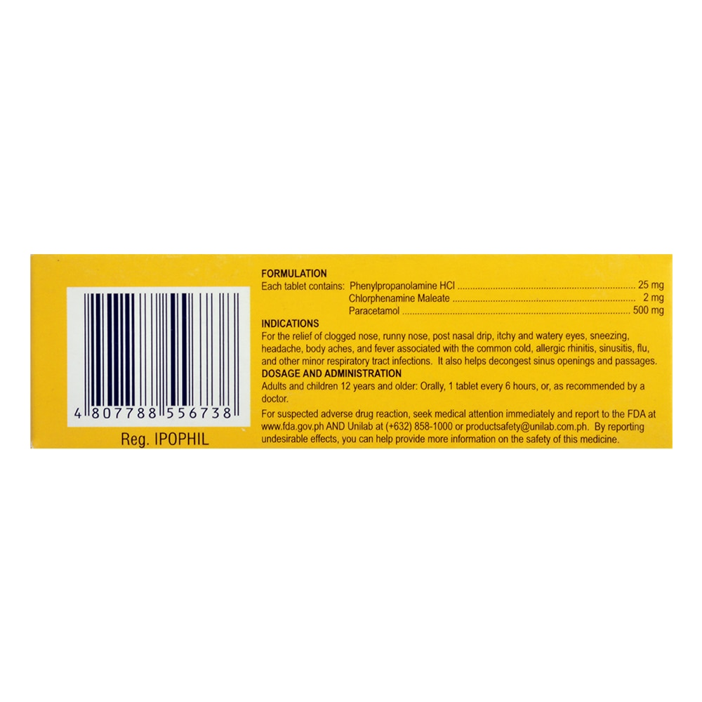 DECOLGENPhenylephrine HCl 10mg Paracetamol 500mg Chlorphenamine maleate 2mg Tablet 1 Tablet,Cough, Cold and FluBest Selling Products