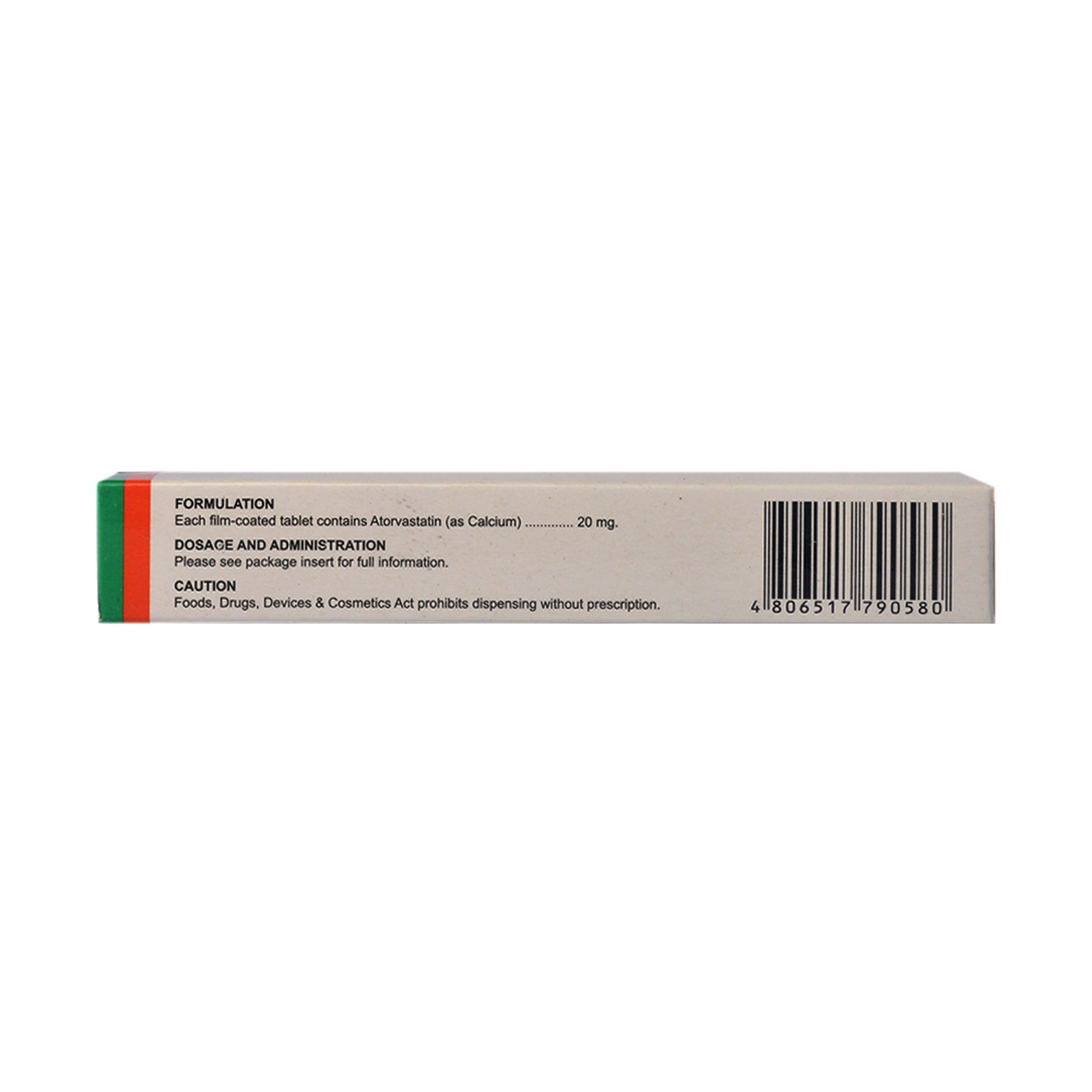 ITORVAZAtorvastatin 20Mg 1 Tablet [PRESCRIPTION REQUIRED],Free Shipping