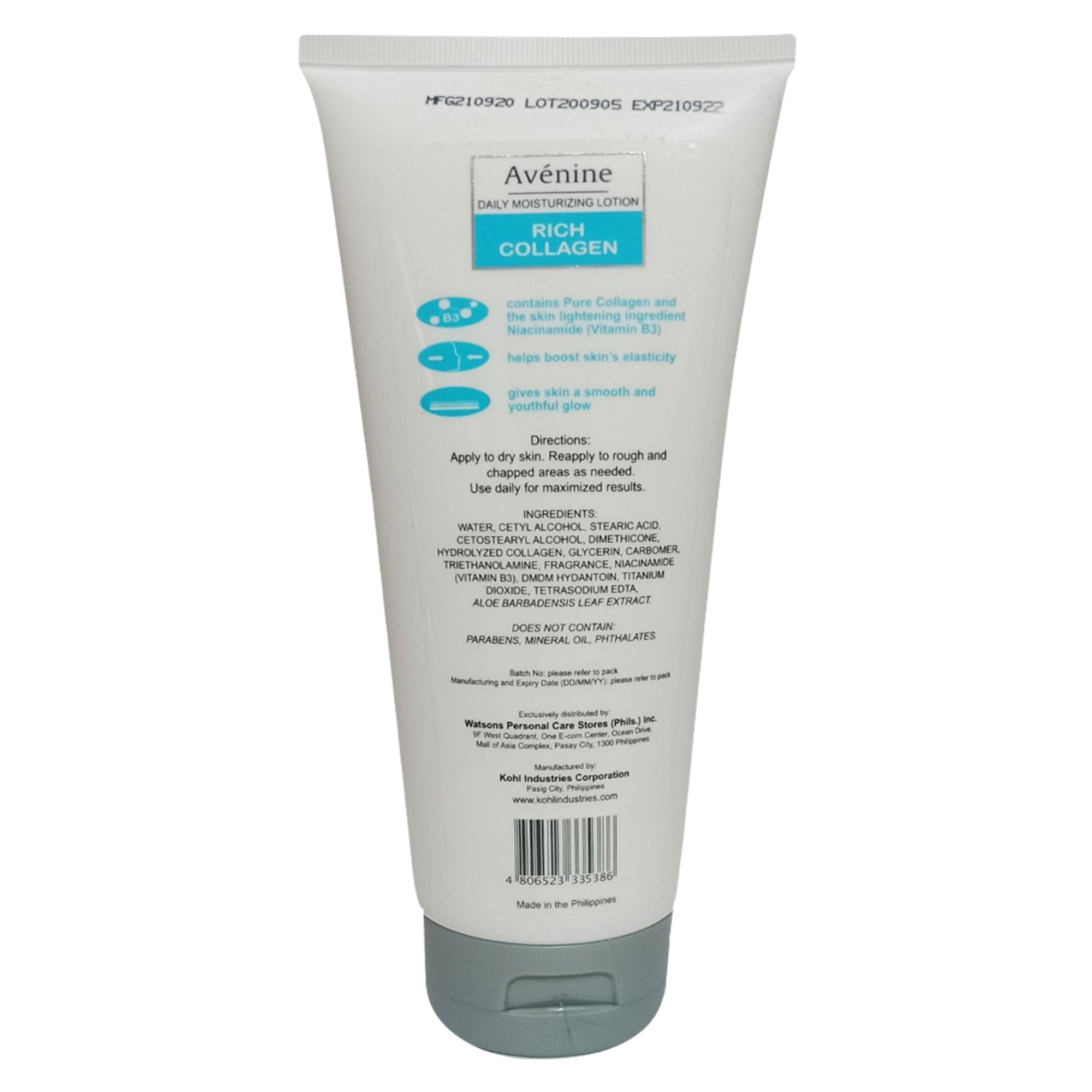 AVENINEWhite Extra Rich Collagen Body Lotion 250ml,For Women