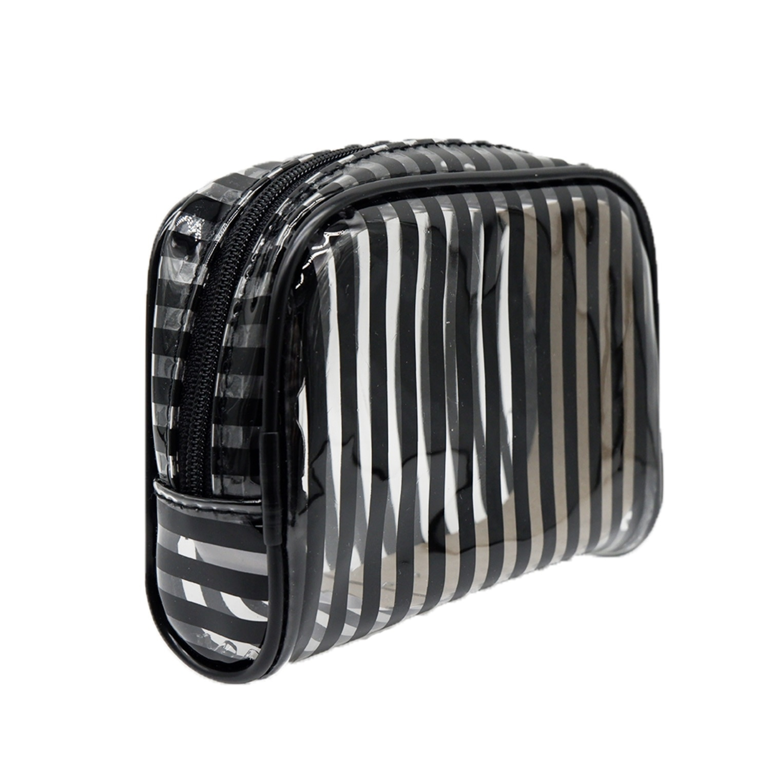 STYLESOURCEStripes Black Halfmoon Cosmetic Pouch,Home EssentialsWATSONS EMP. DISC.