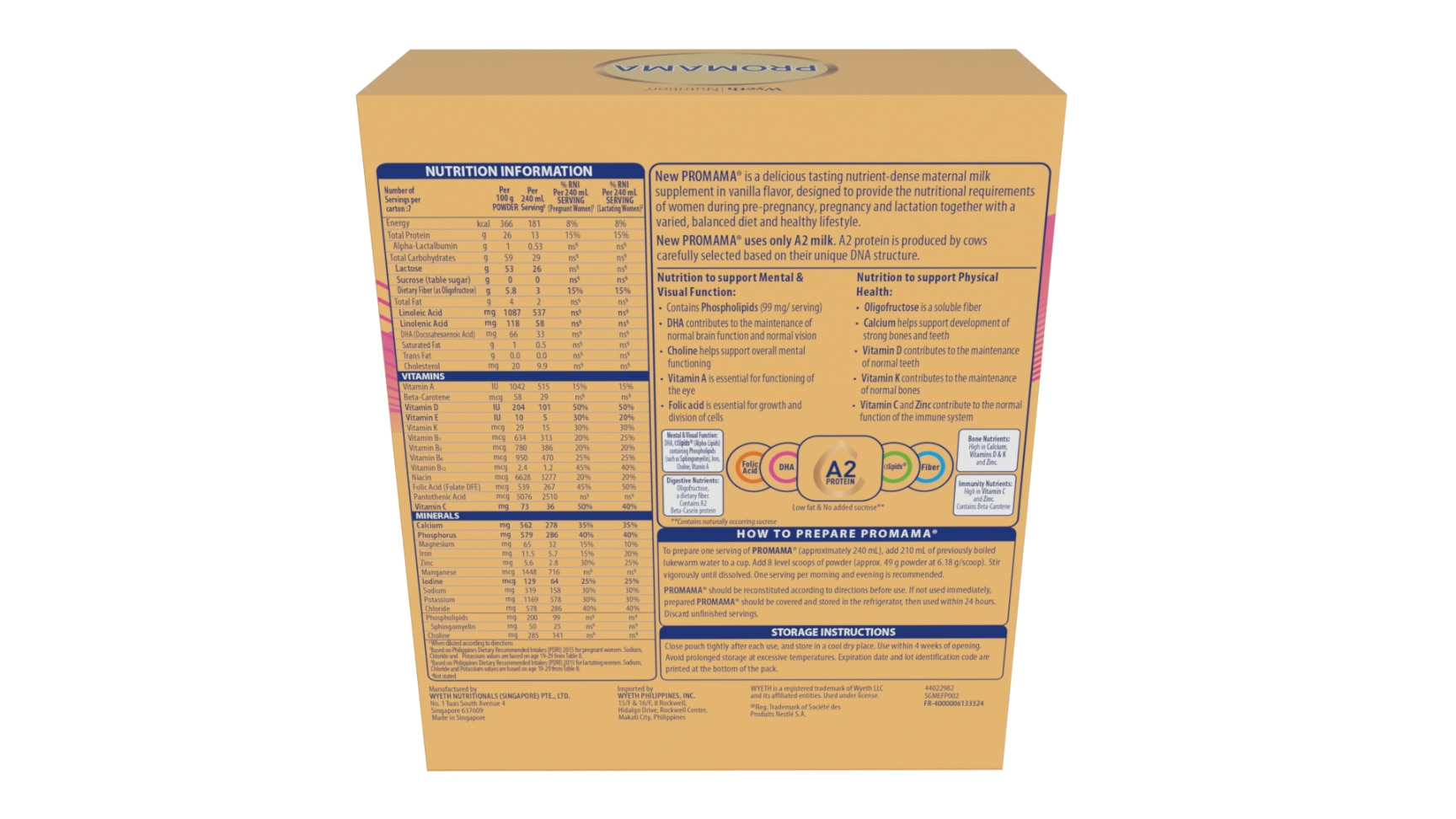 PROMAMAMaternal Milk Drink Scientifically Formulated for Women during Pre-Pregnancy 350g,Maternity Care