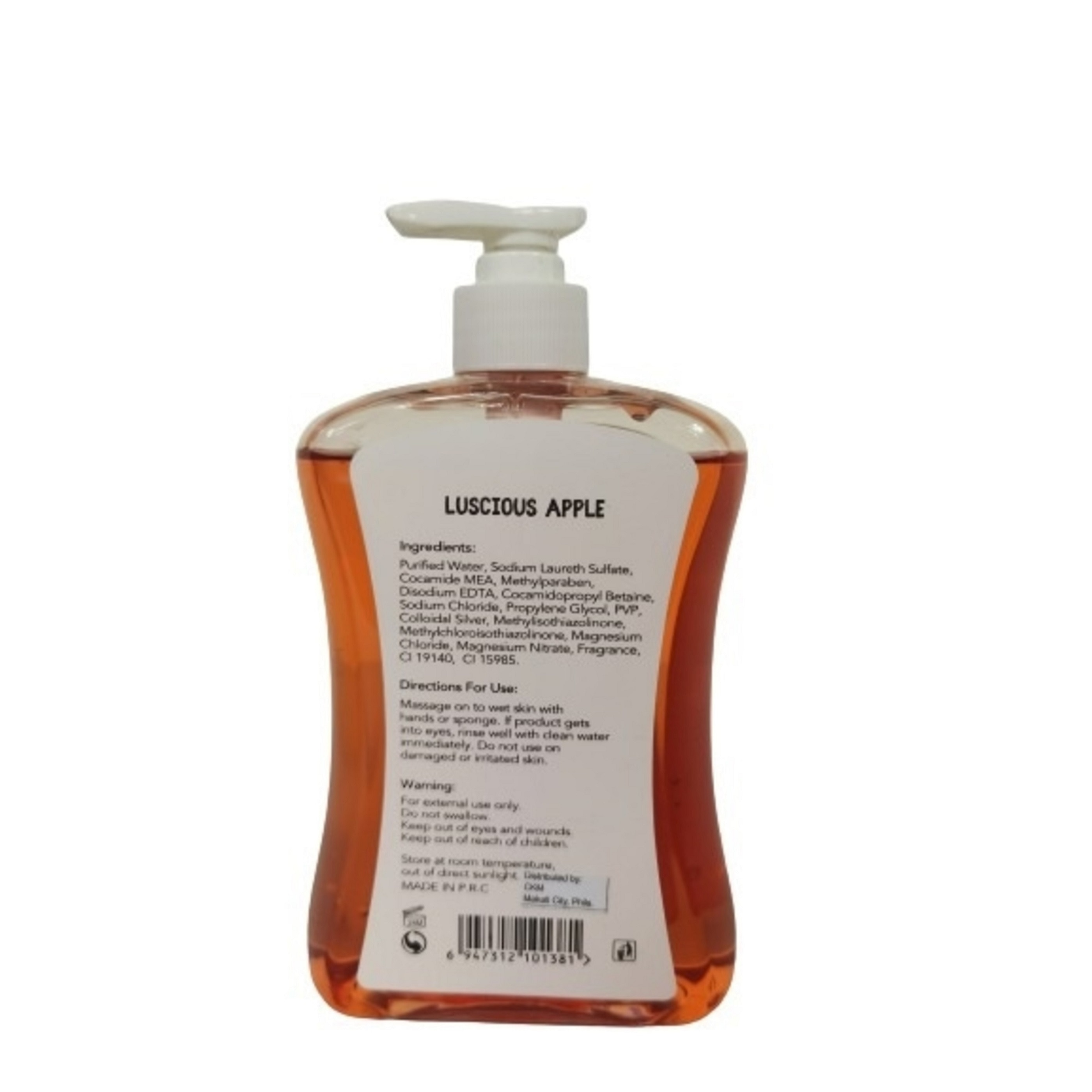 CLEAN RAntibacterial Hand Wash Luscious Apple 500ml,Hand Soap/SanitizersWhat A Splash: All Products