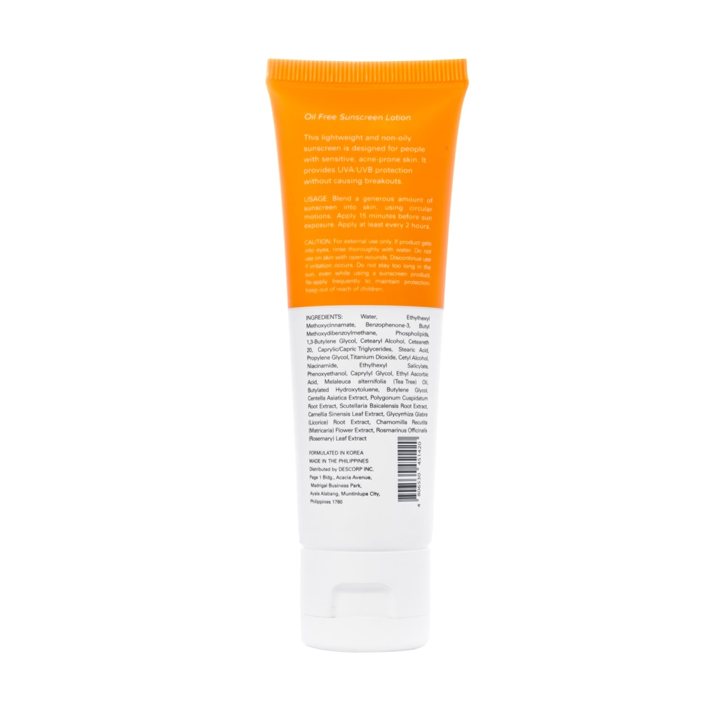 QUICKFXPimple Eraser Oil Free Sunscreen with SPF 50+ 50ml,Face and Body SuncareClean Beauty