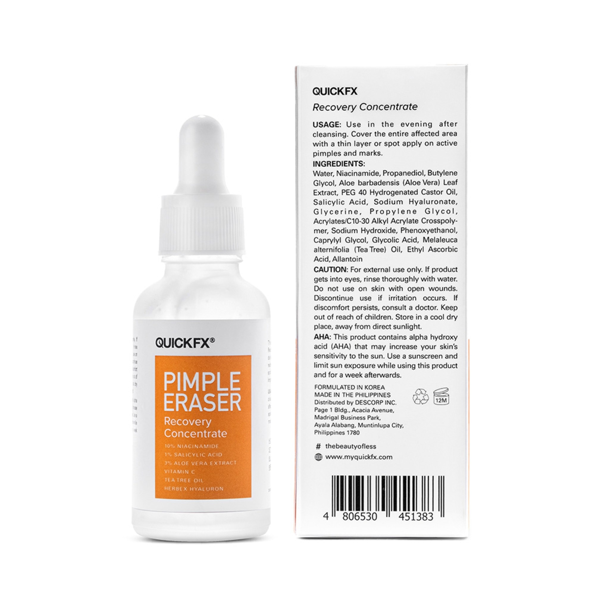 QUICKFXPimple Eraser Recovery Concentrate 30ml,Facial TreatmentBest Selling Products