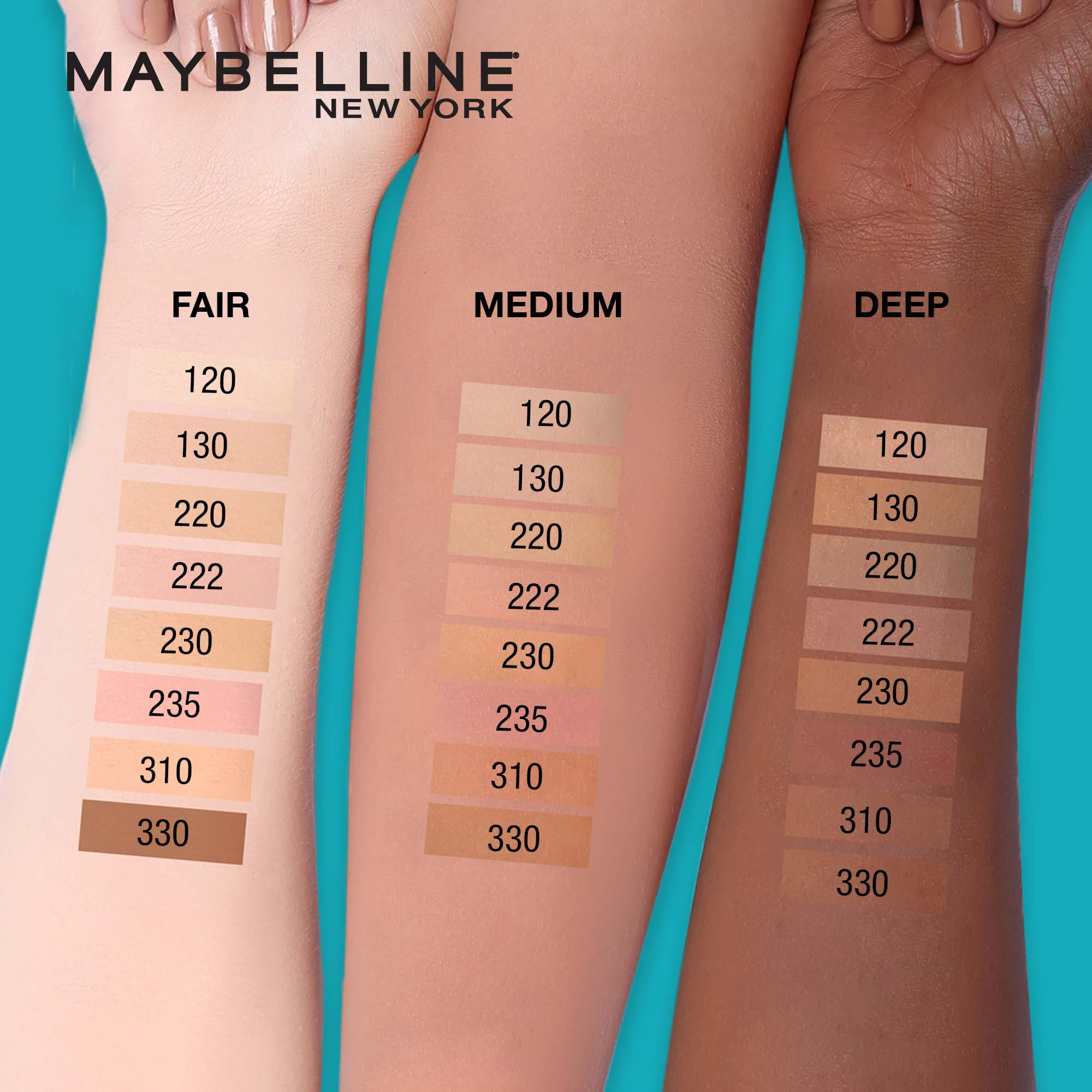 MAYBELLINEFit Me Matte + Poreless Liquid Foundation (with SPF) - 330 Toffee 30ml,FoundationWATSONS EMP. DISC.