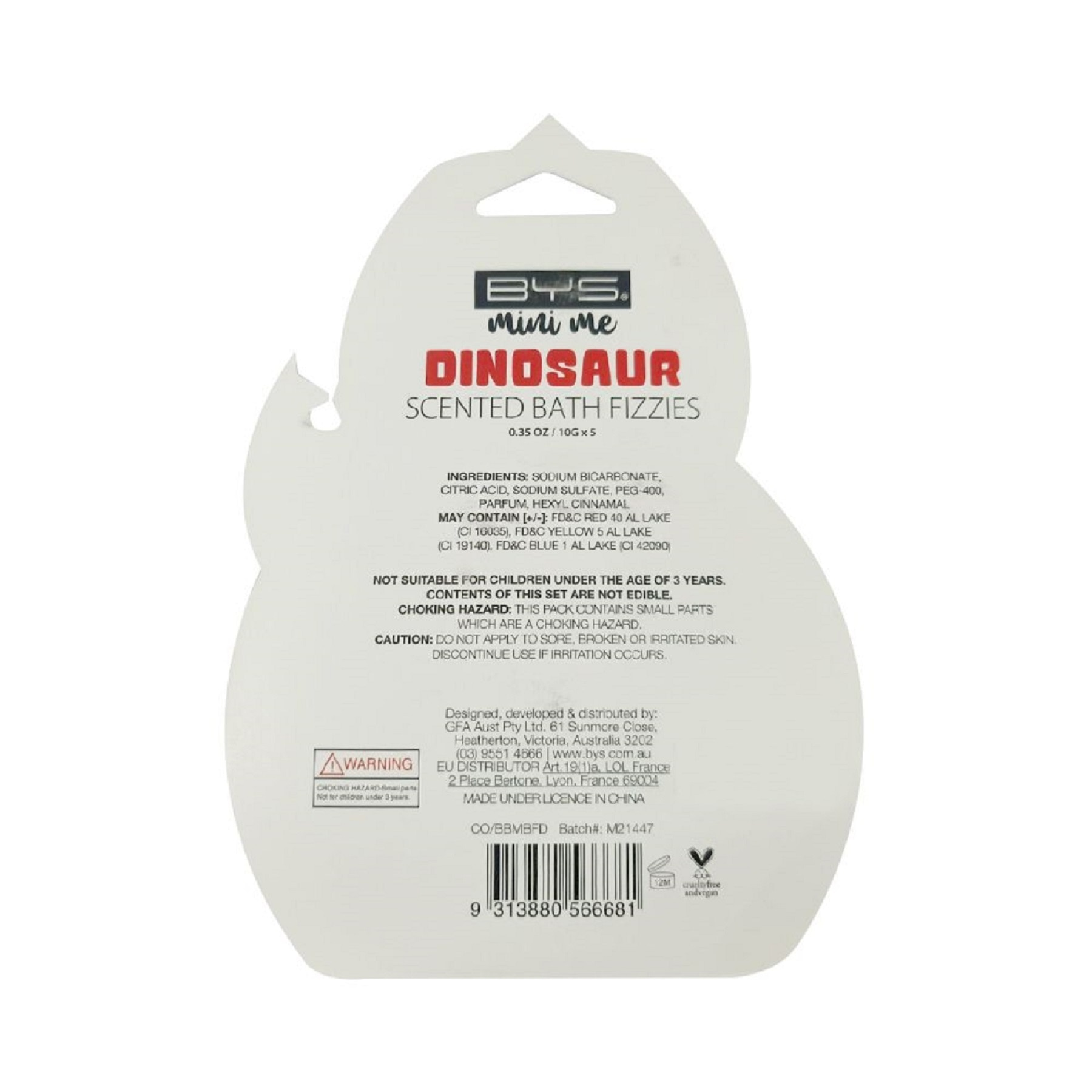 BYSMini Me Scented Bath Fizzies Dinosaur 10g,Nail Polish and AccessoriesWATSONS EMP. DISC.