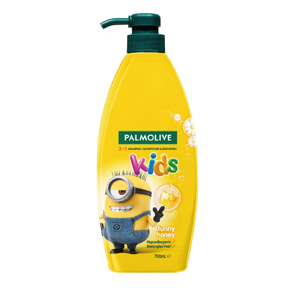 PALMOLIVEKids 3-in-1 Shampoo, Body Wash and Conditioner Funny Honey 700ml,Baby BathHELLOWT